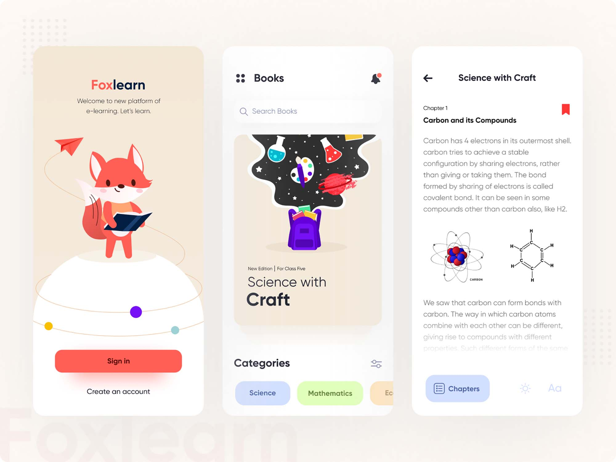 FoxLearn E-Learning App Template