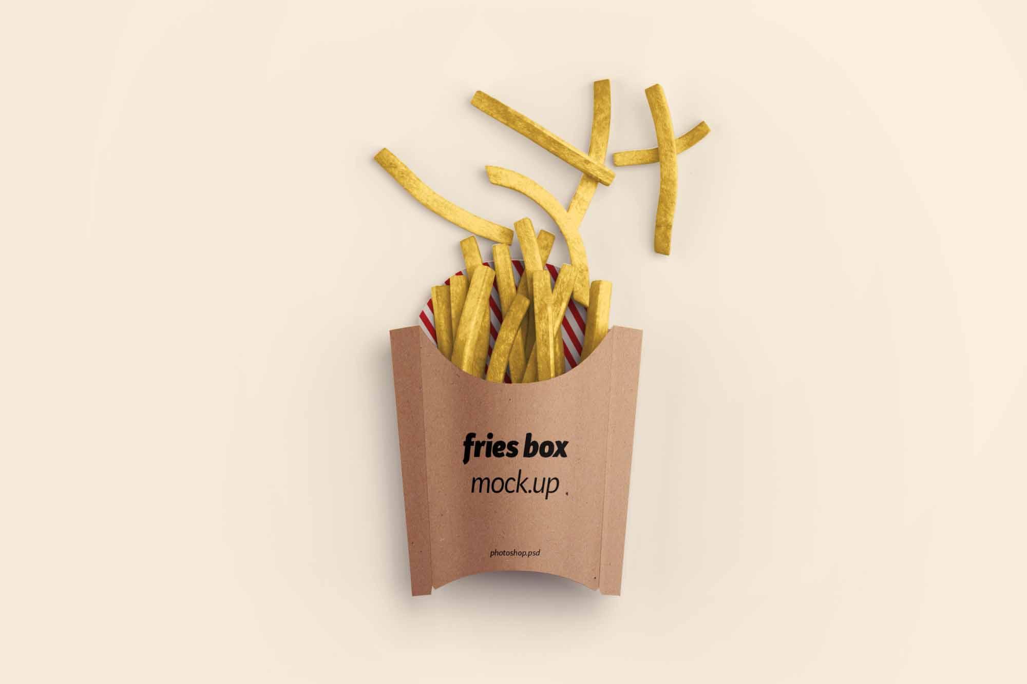 Fries Box Mockup