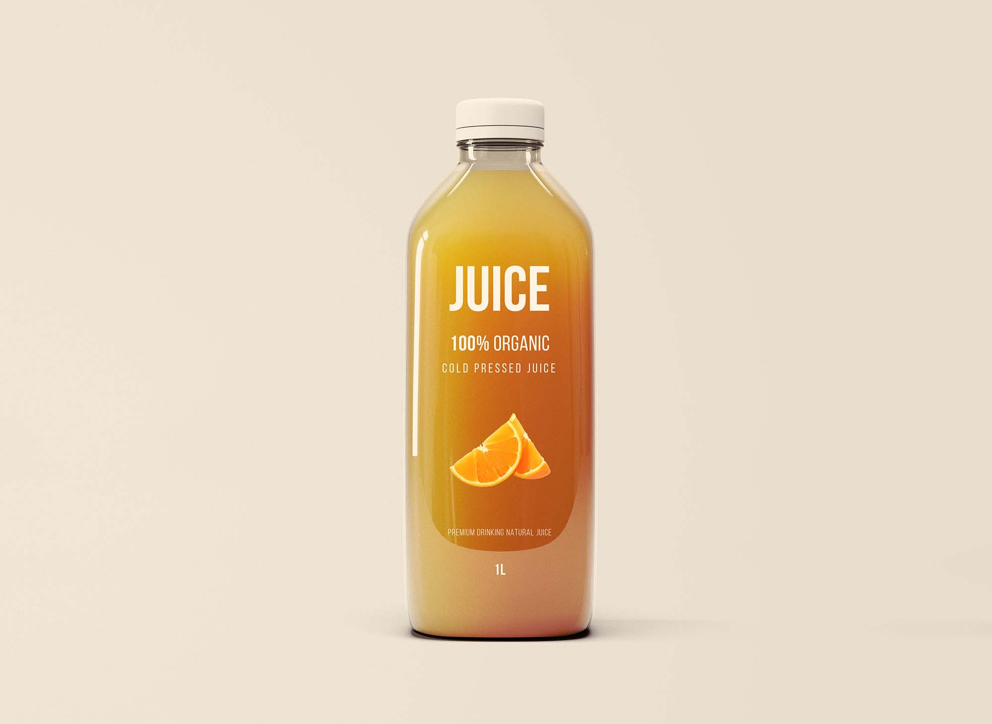 Glass Juice Bottle Mockup 2