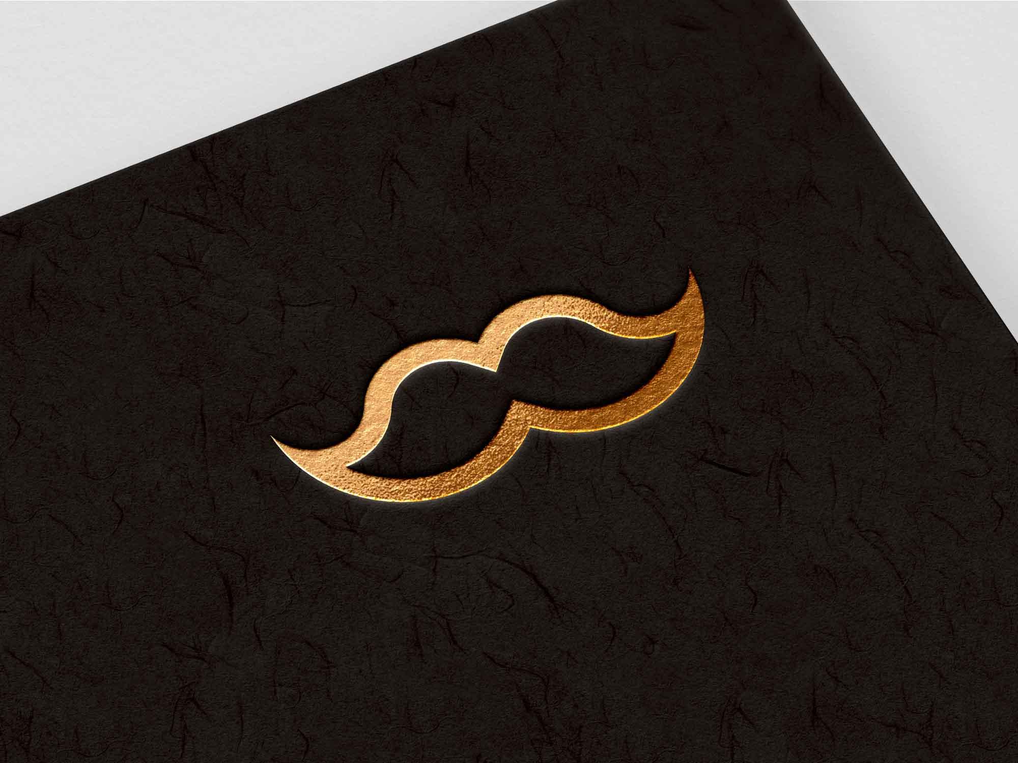 Gold on Black Logo Mockup