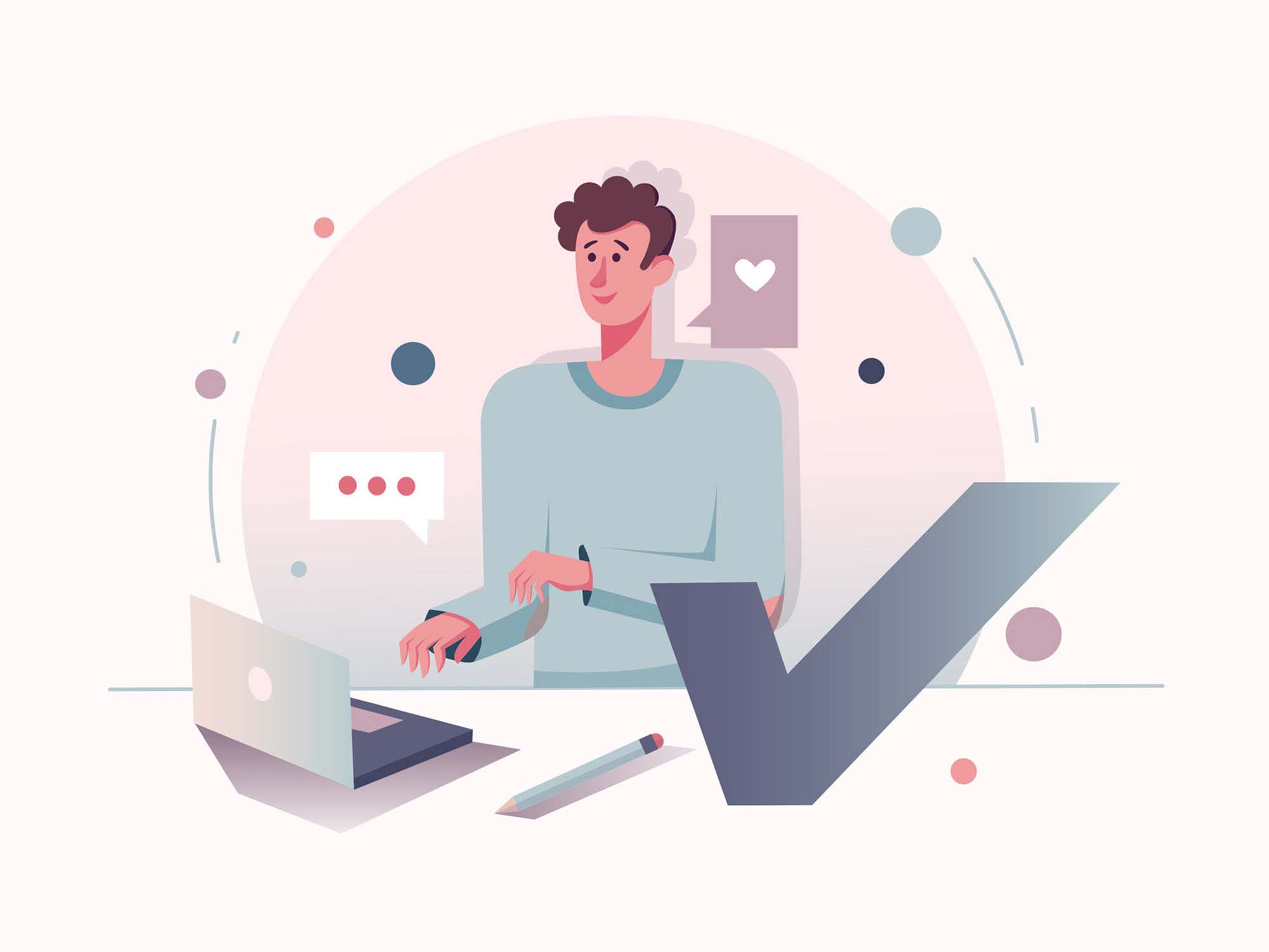 Graphic Designer Vector Illustration
