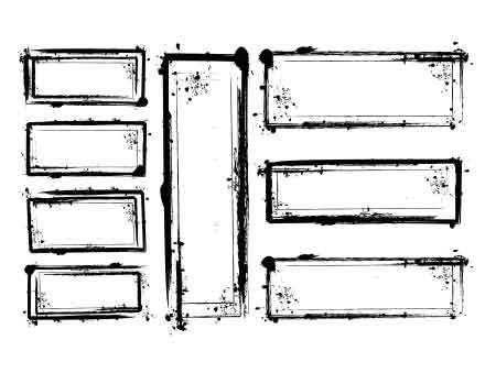 Grungy Vector Frames