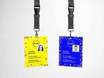 Hanging ID Card Mockup