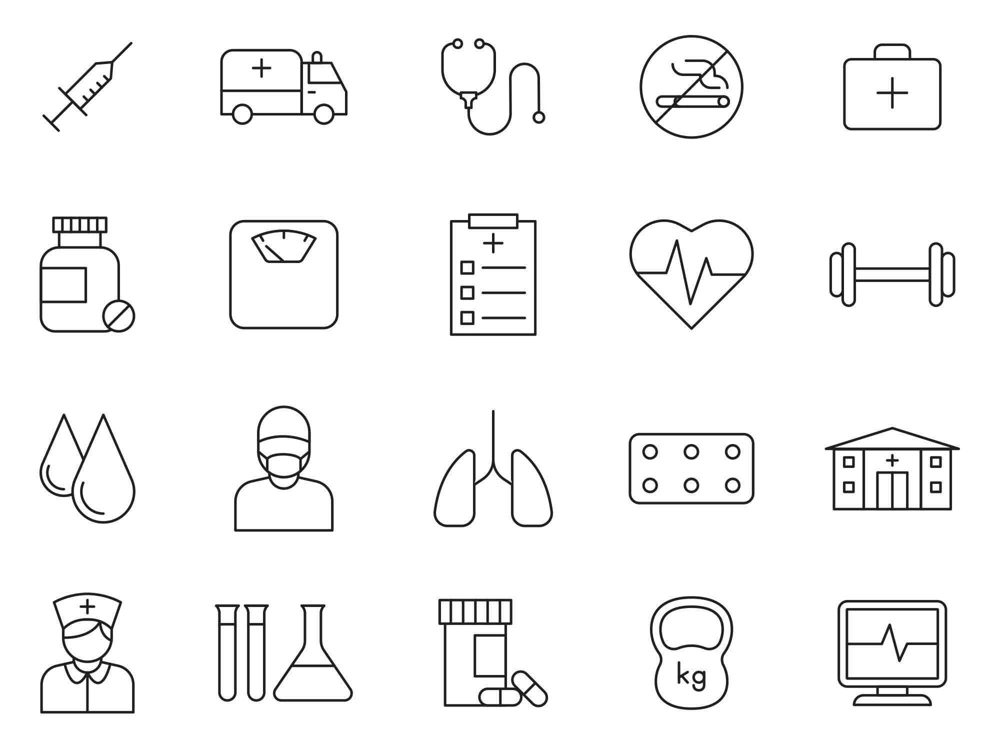 Health Vector Icons