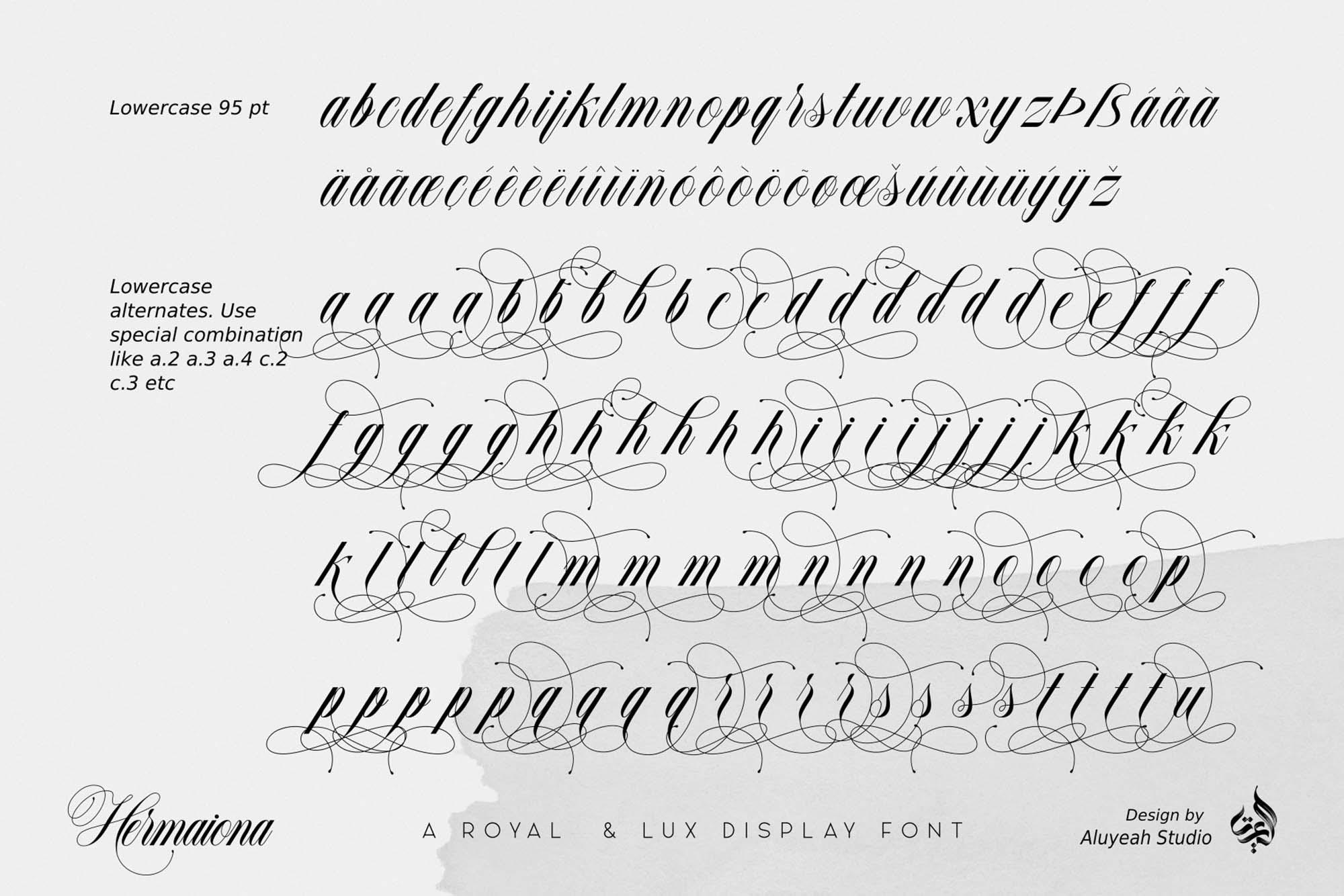 Hermaiona Royal Font 10