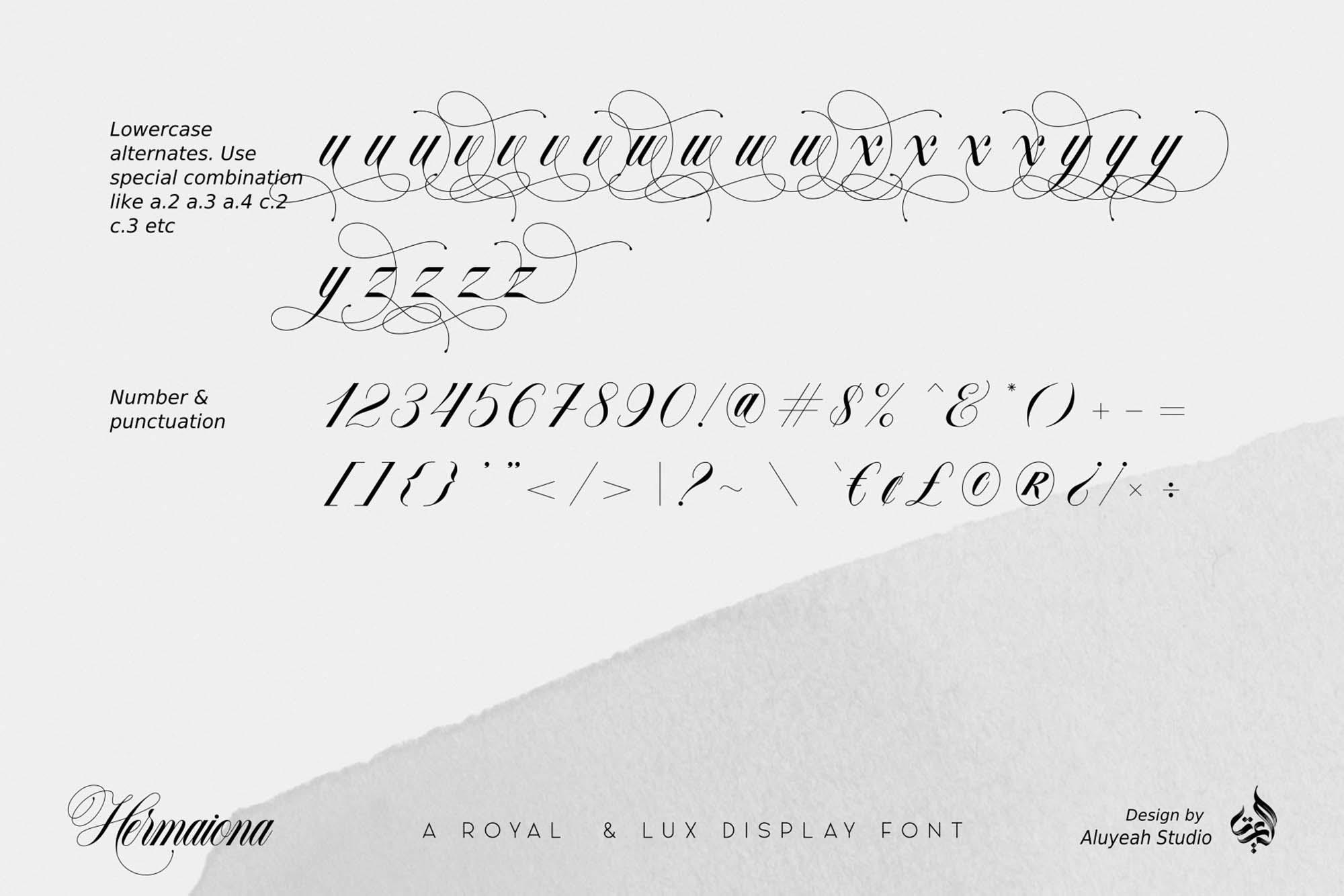 Hermaiona Royal Font 11