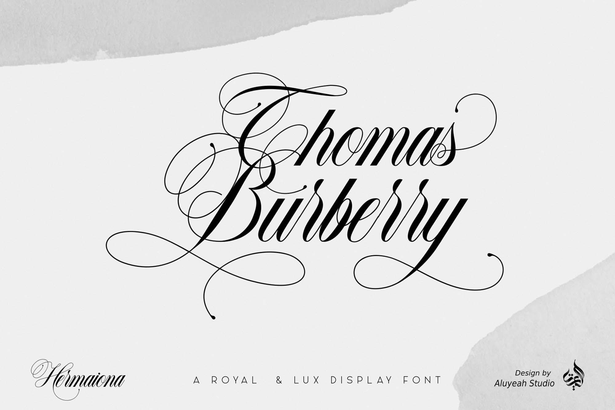 Hermaiona Royal Font 6