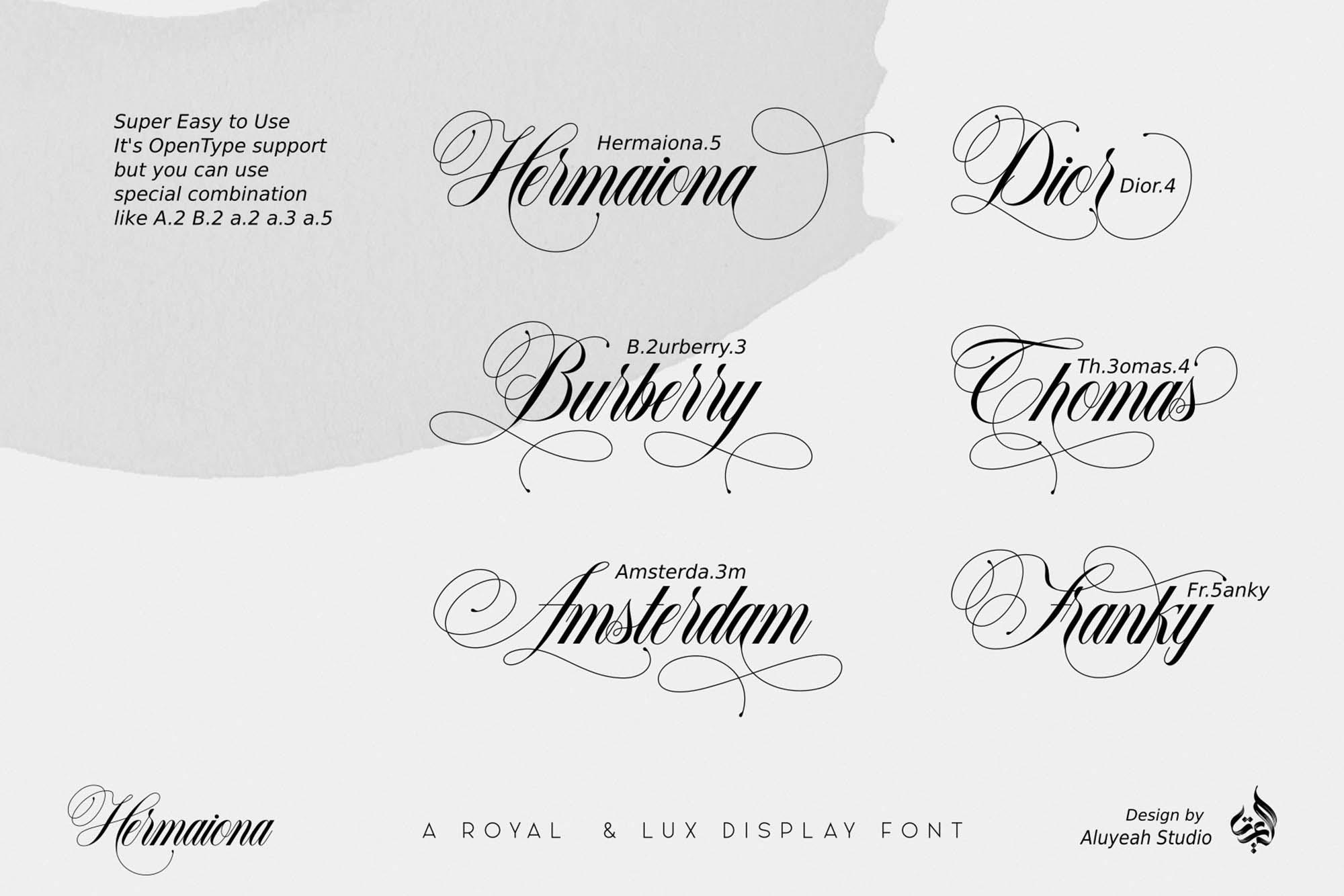 Hermaiona Royal Font 7