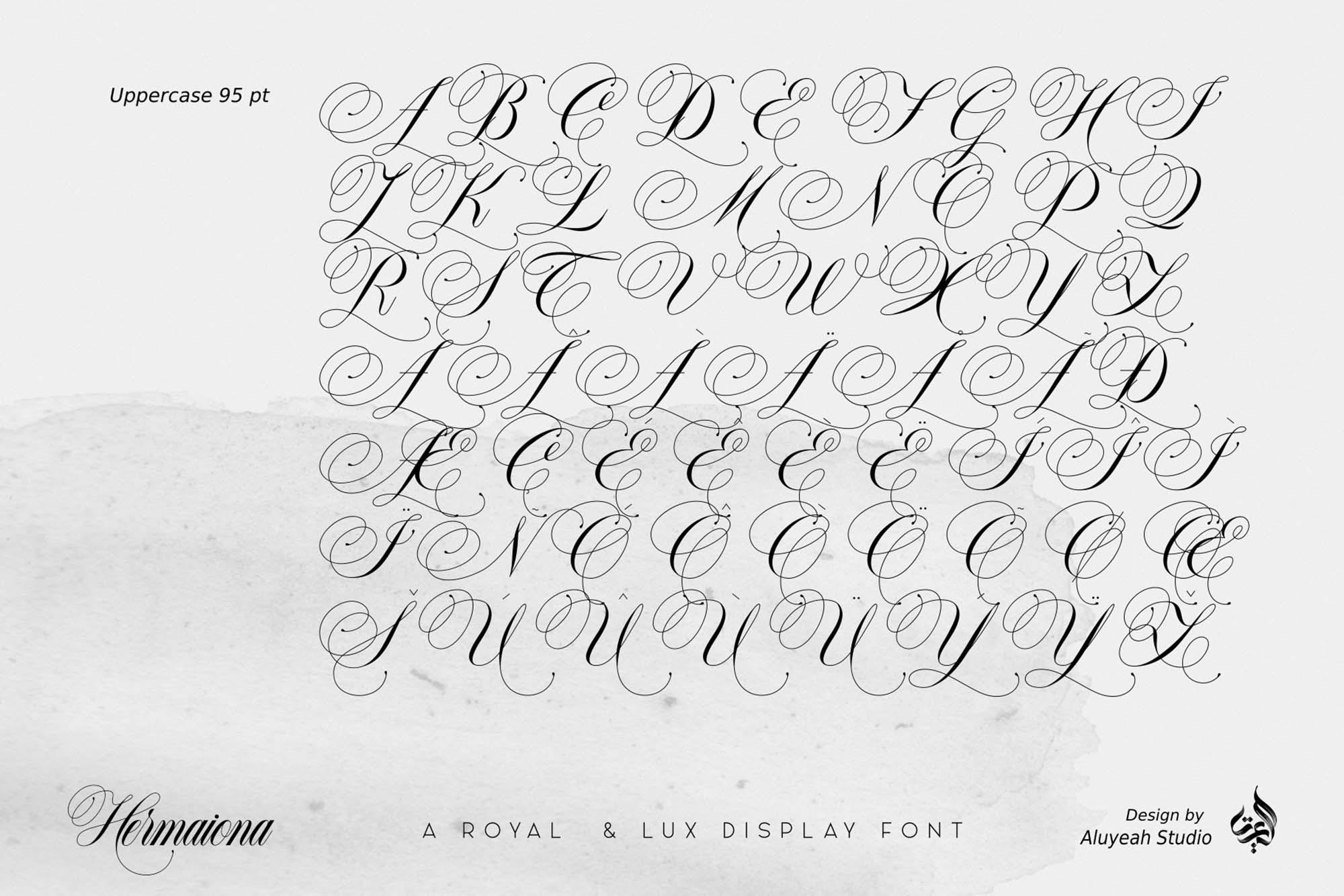 Hermaiona Royal Font 8
