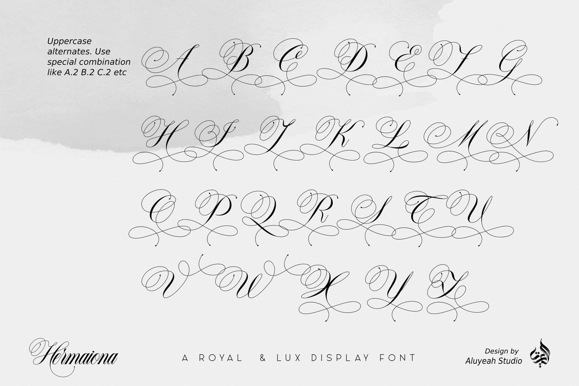 Hermaiona Royal Font 9