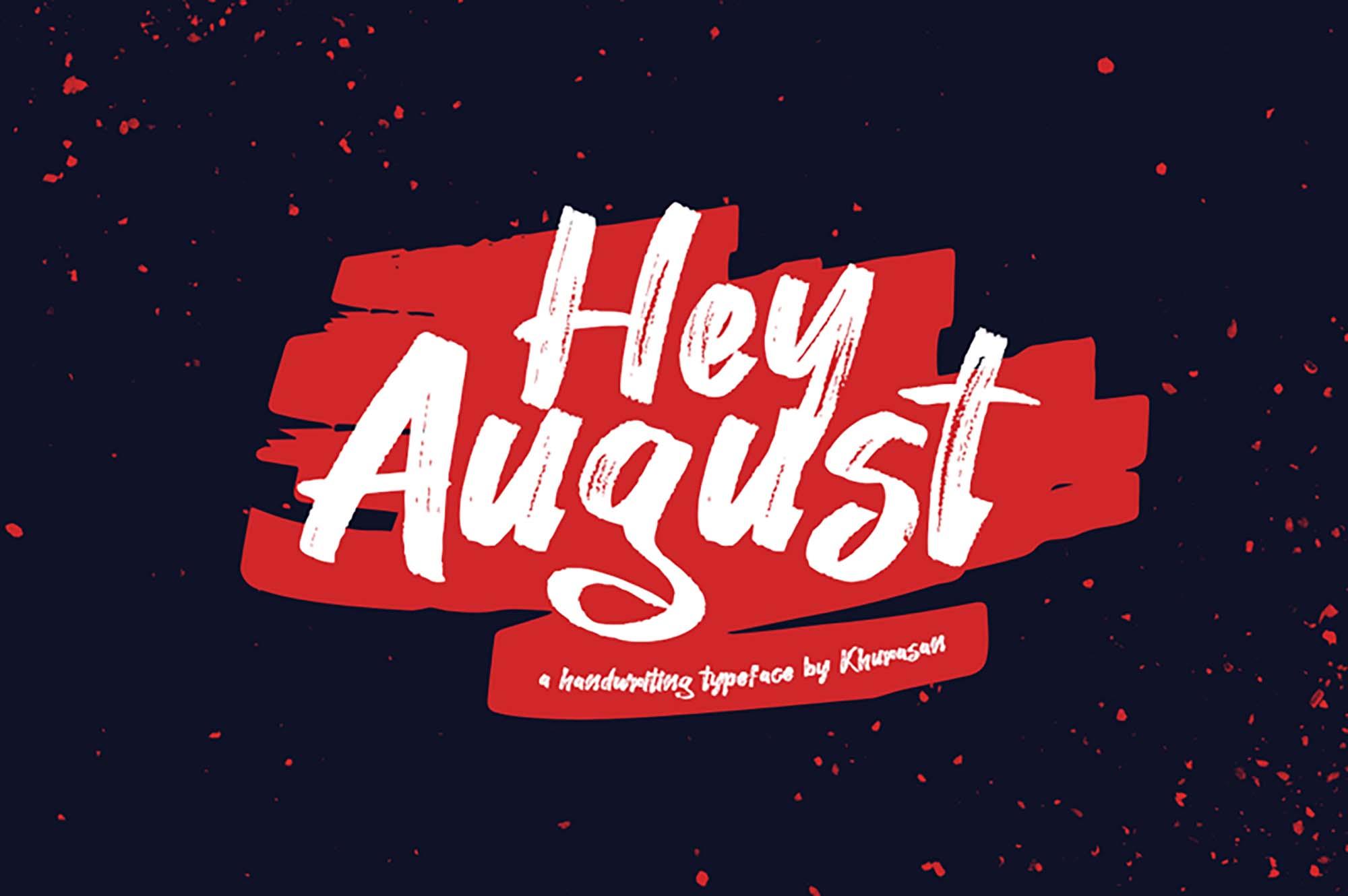Hey August Script Font
