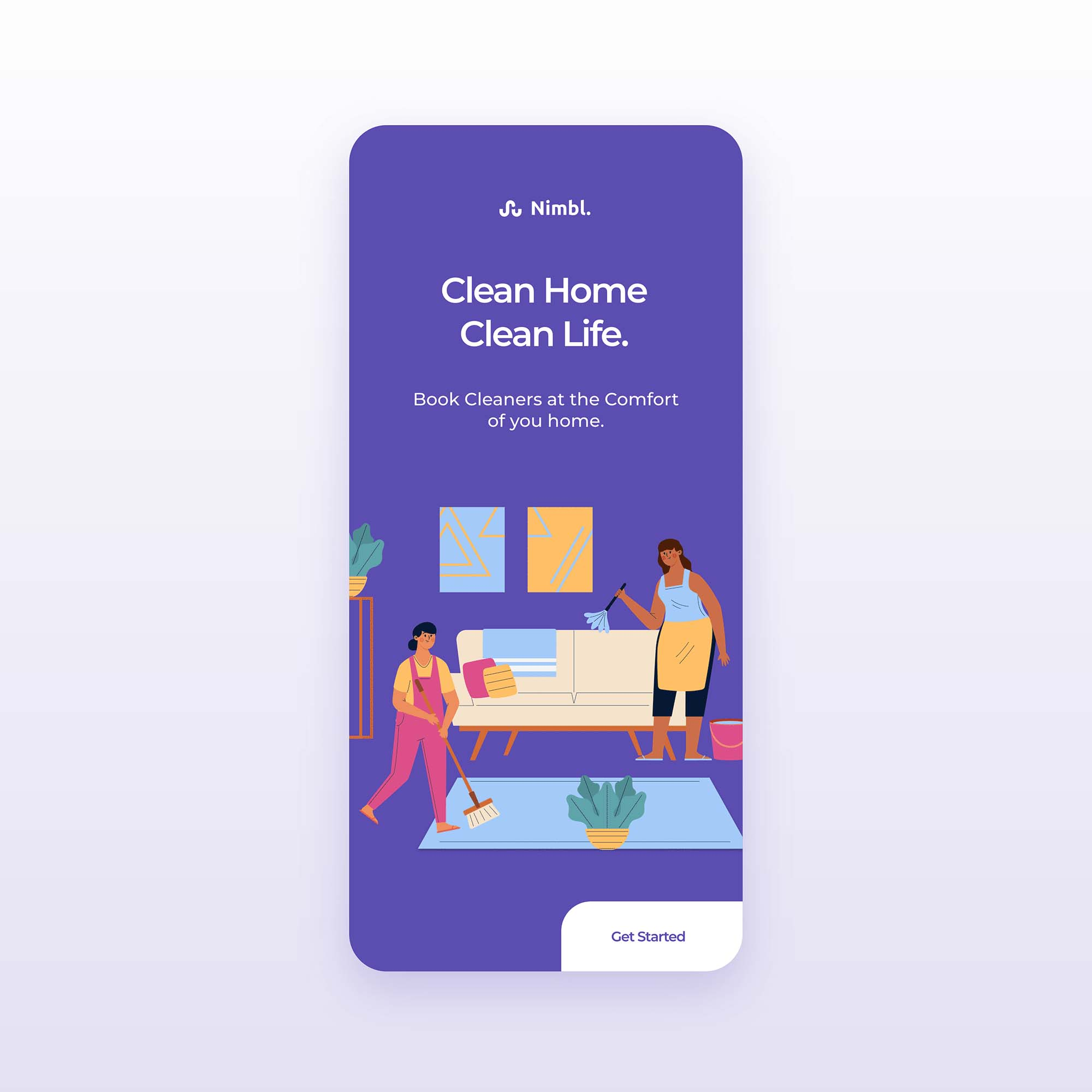 Home Cleaning App Template 3
