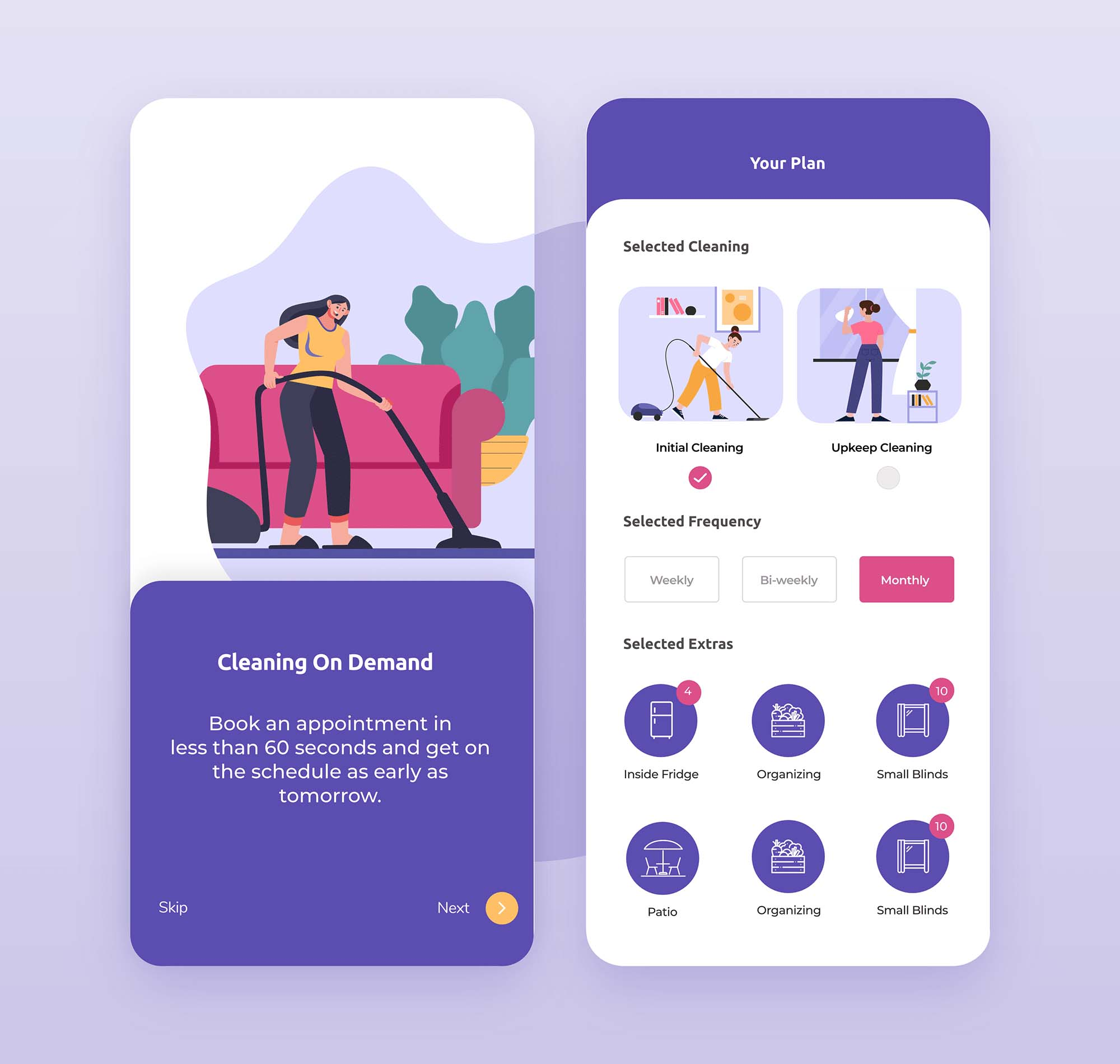 Home Cleaning App Template 4