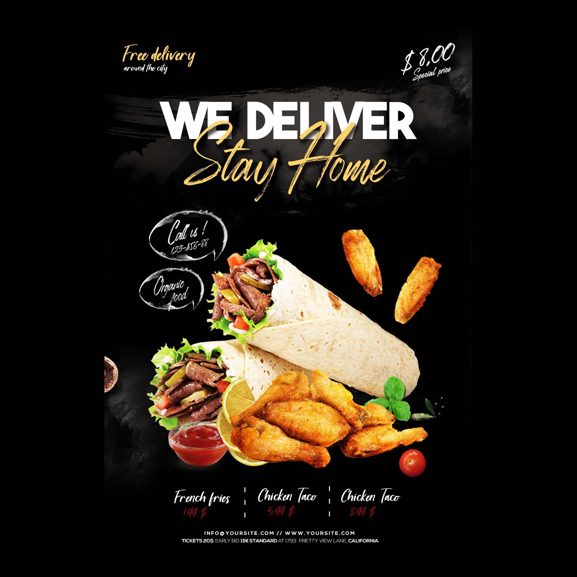 Home Delivery Food Flyer Template 2