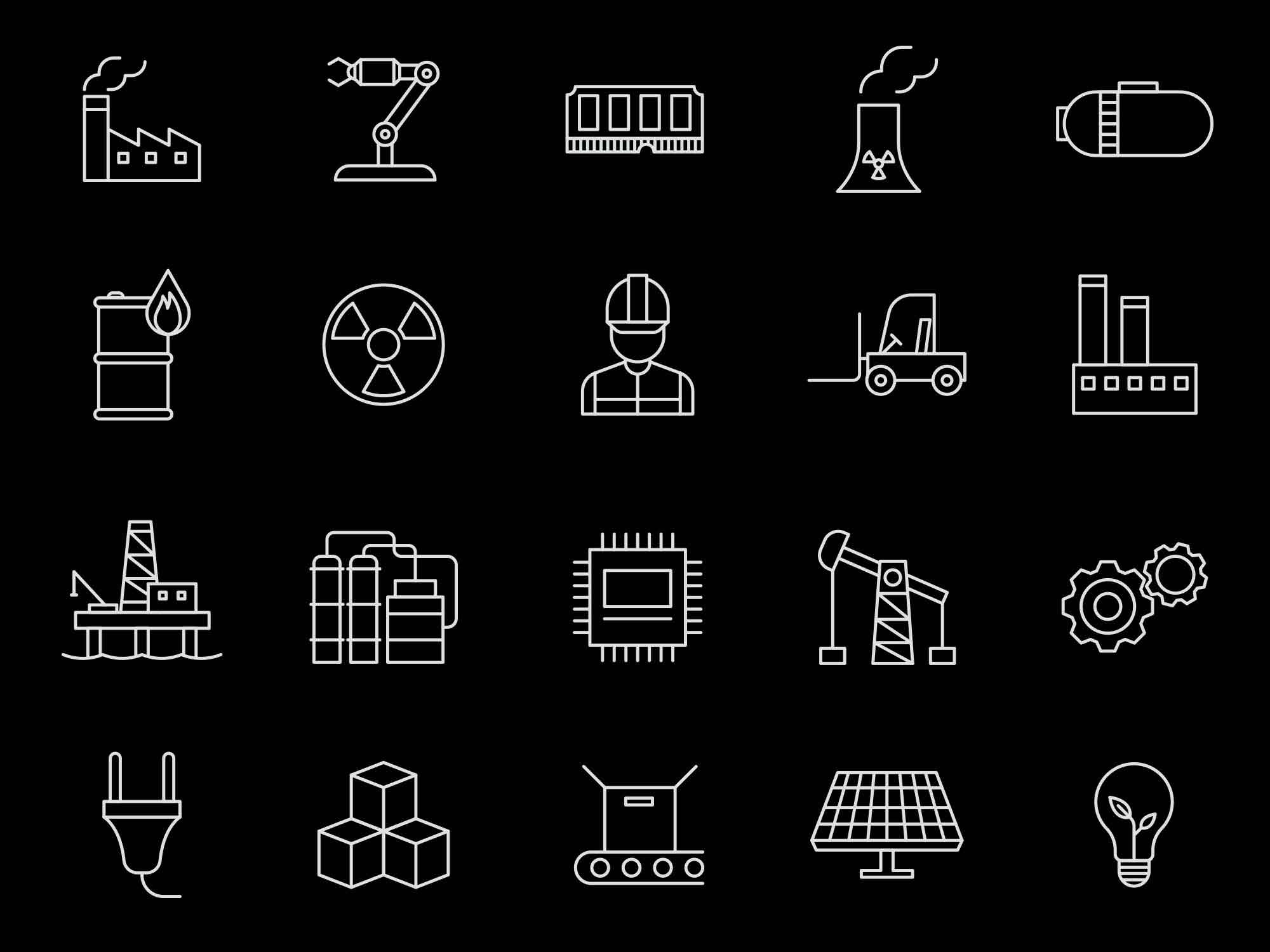 Industrial Vector Icons 2