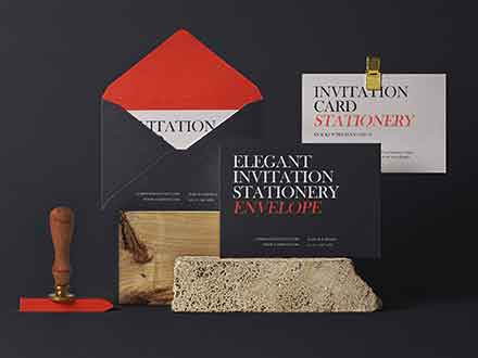 Invitation Mockup Set