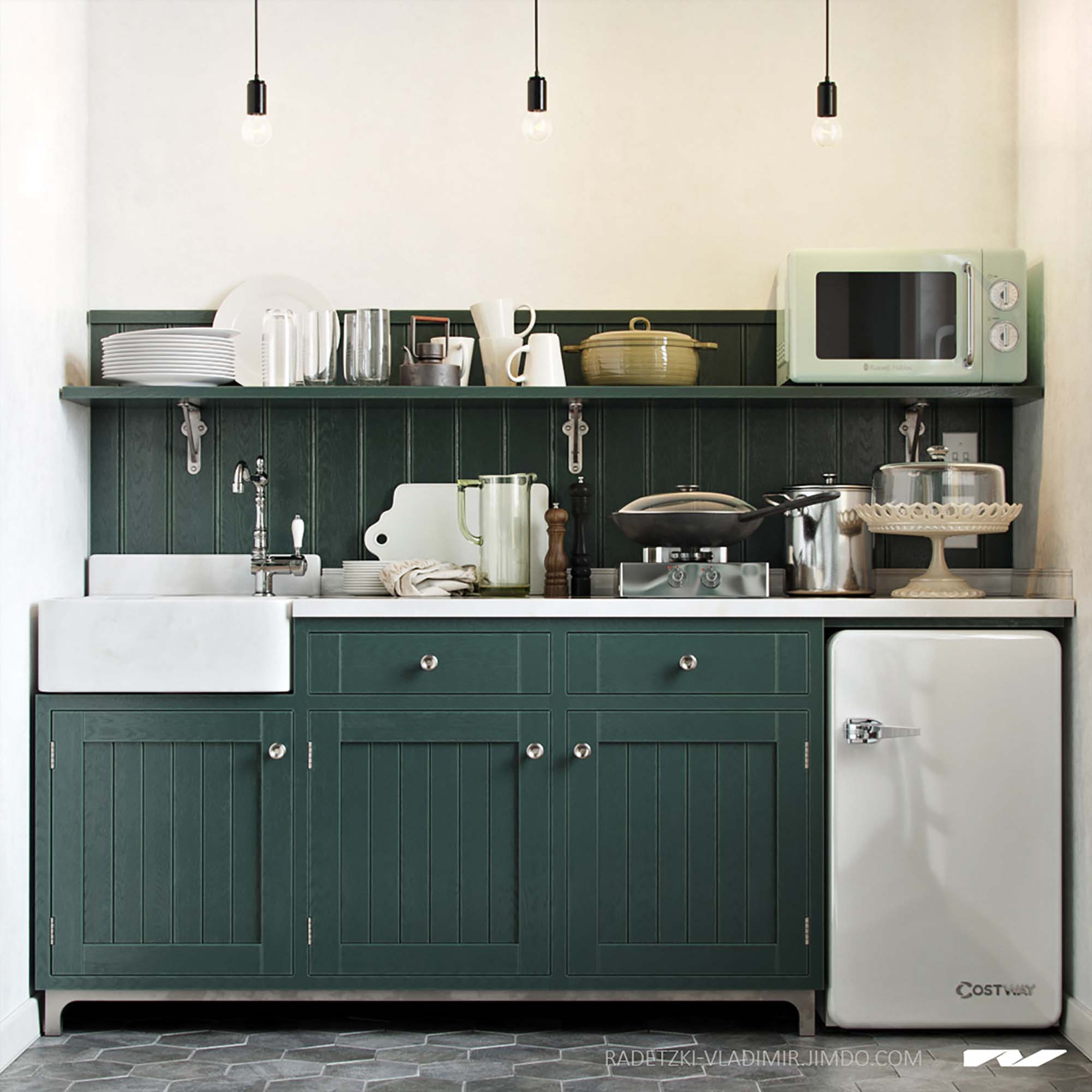 Free Kitchen Set 3d Models