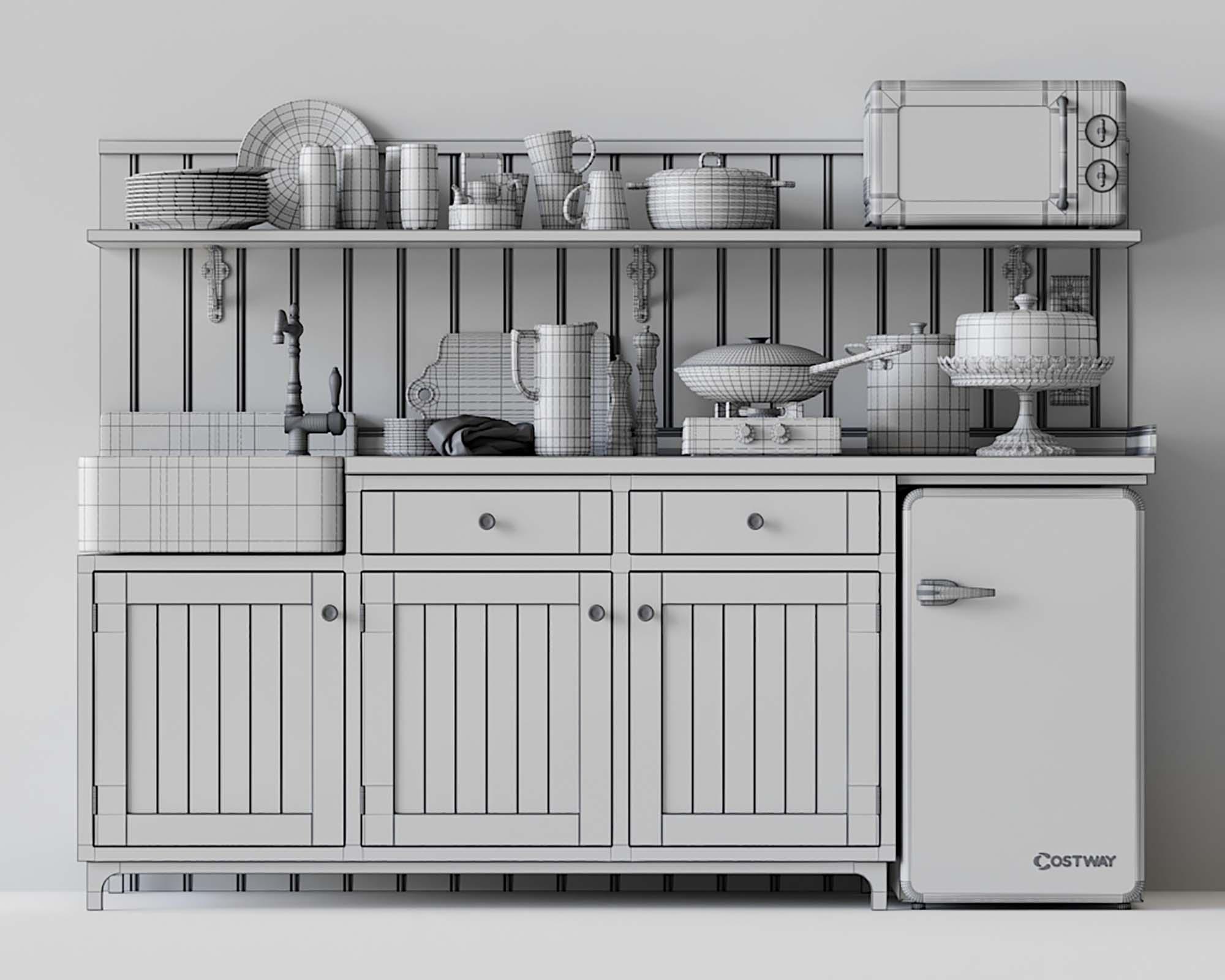 Kitchen Set 3D Models 4