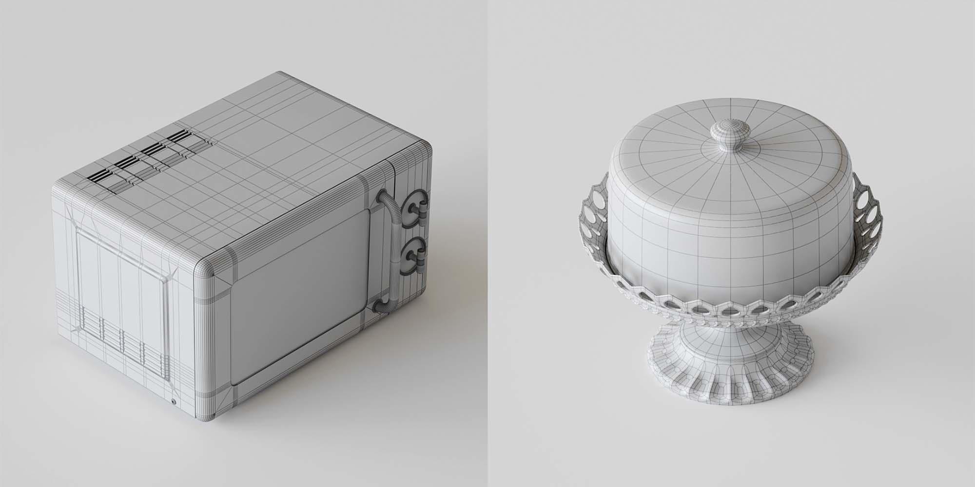 Kitchen Set 3D Models 6