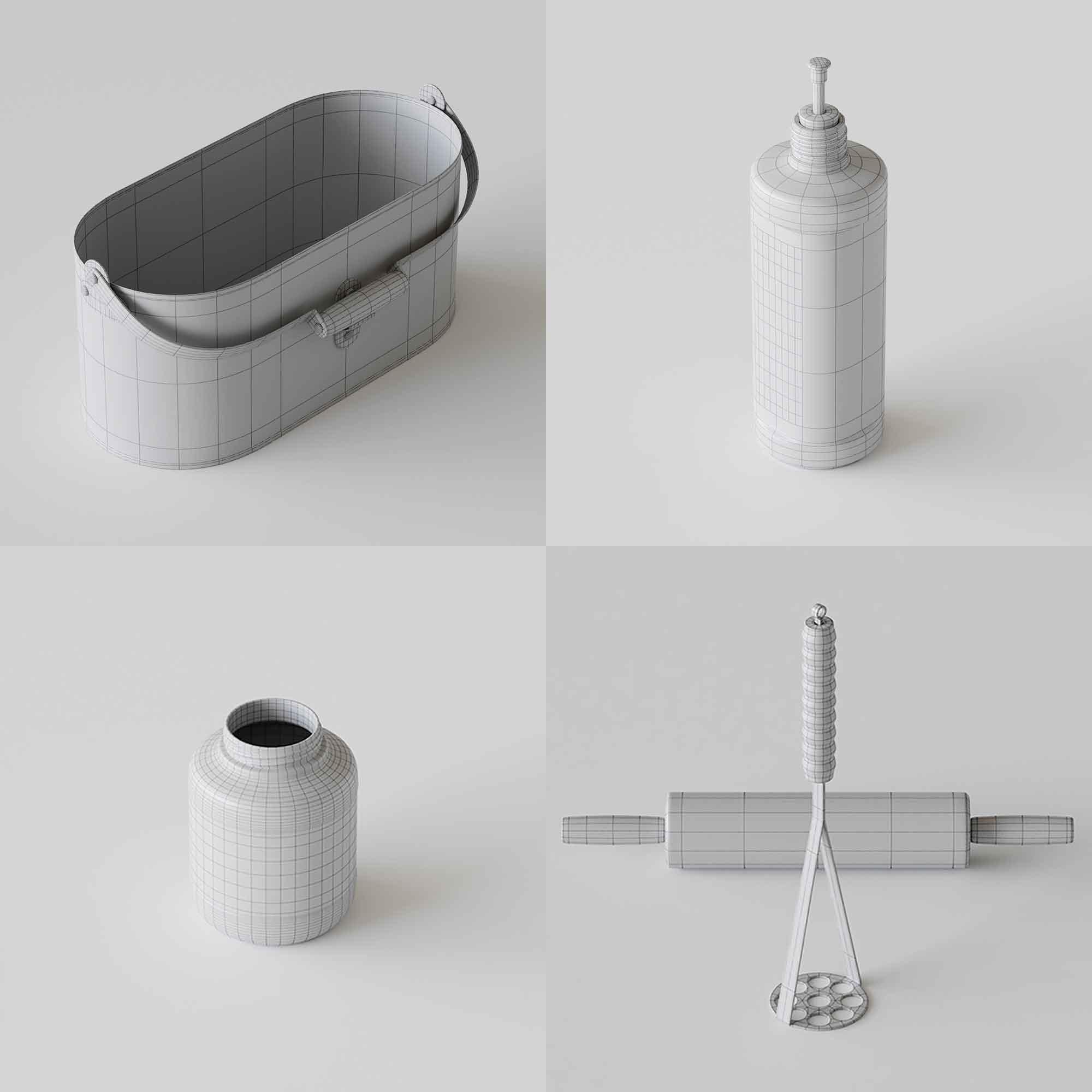 Kitchenware 3D Models 2