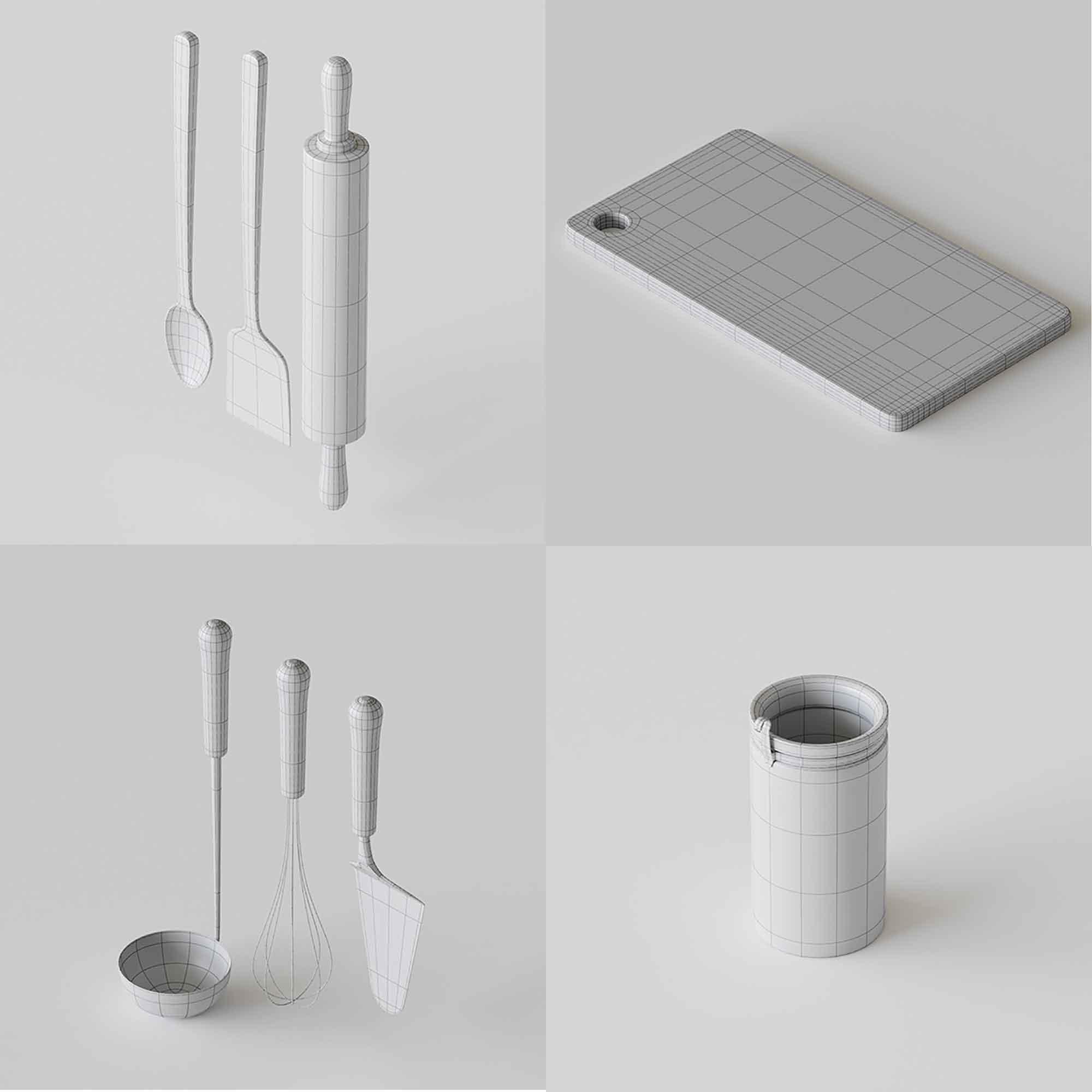 Kitchenware 3D Models 3