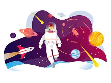 Konsep Astronaut Illustration