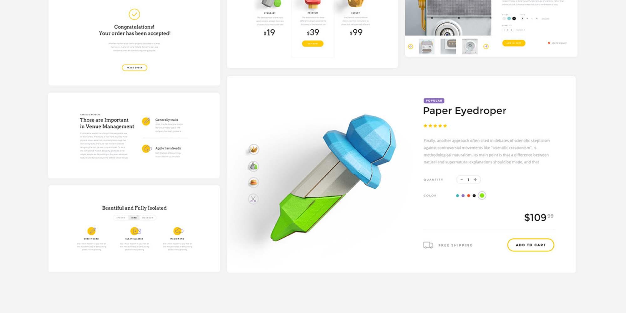 Landing Page UI Kit 10