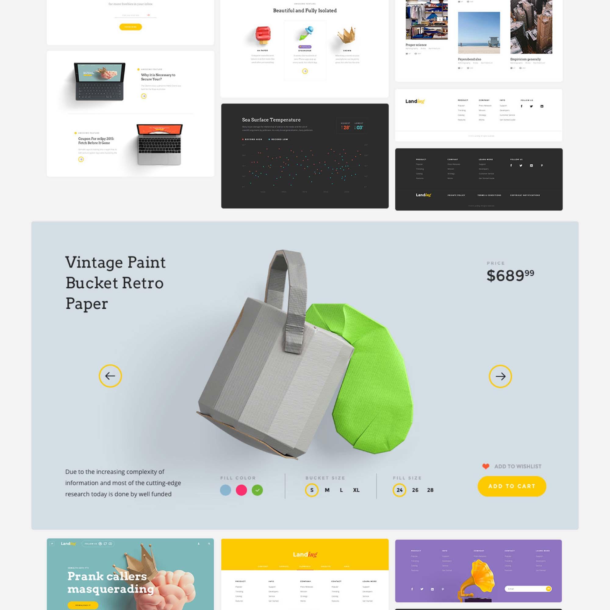 Landing Page UI Kit 12
