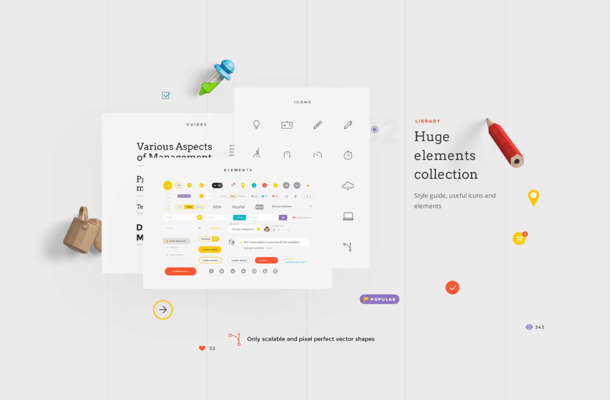 Landing Page UI Kit 3