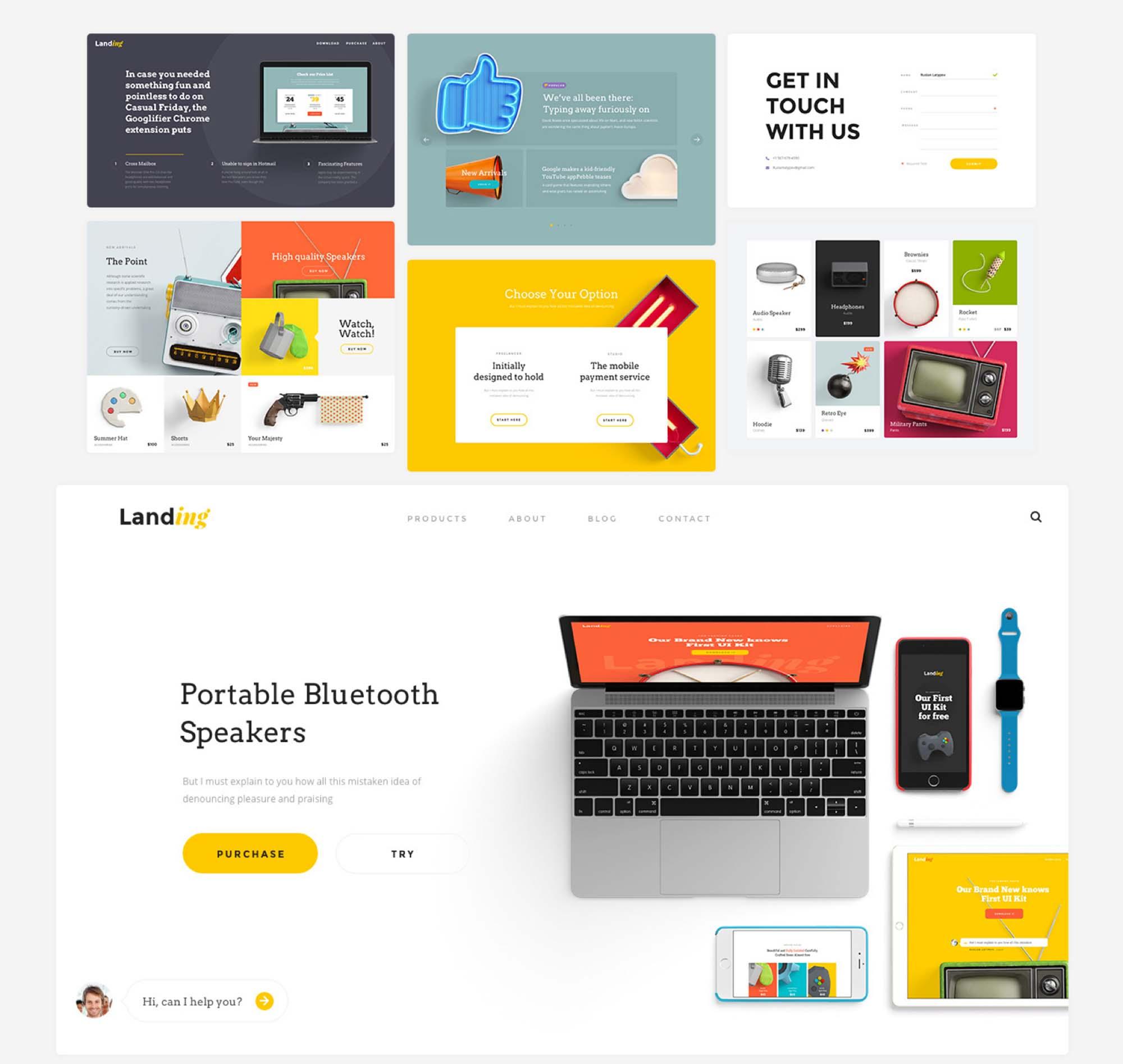Landing Page UI Kit 4