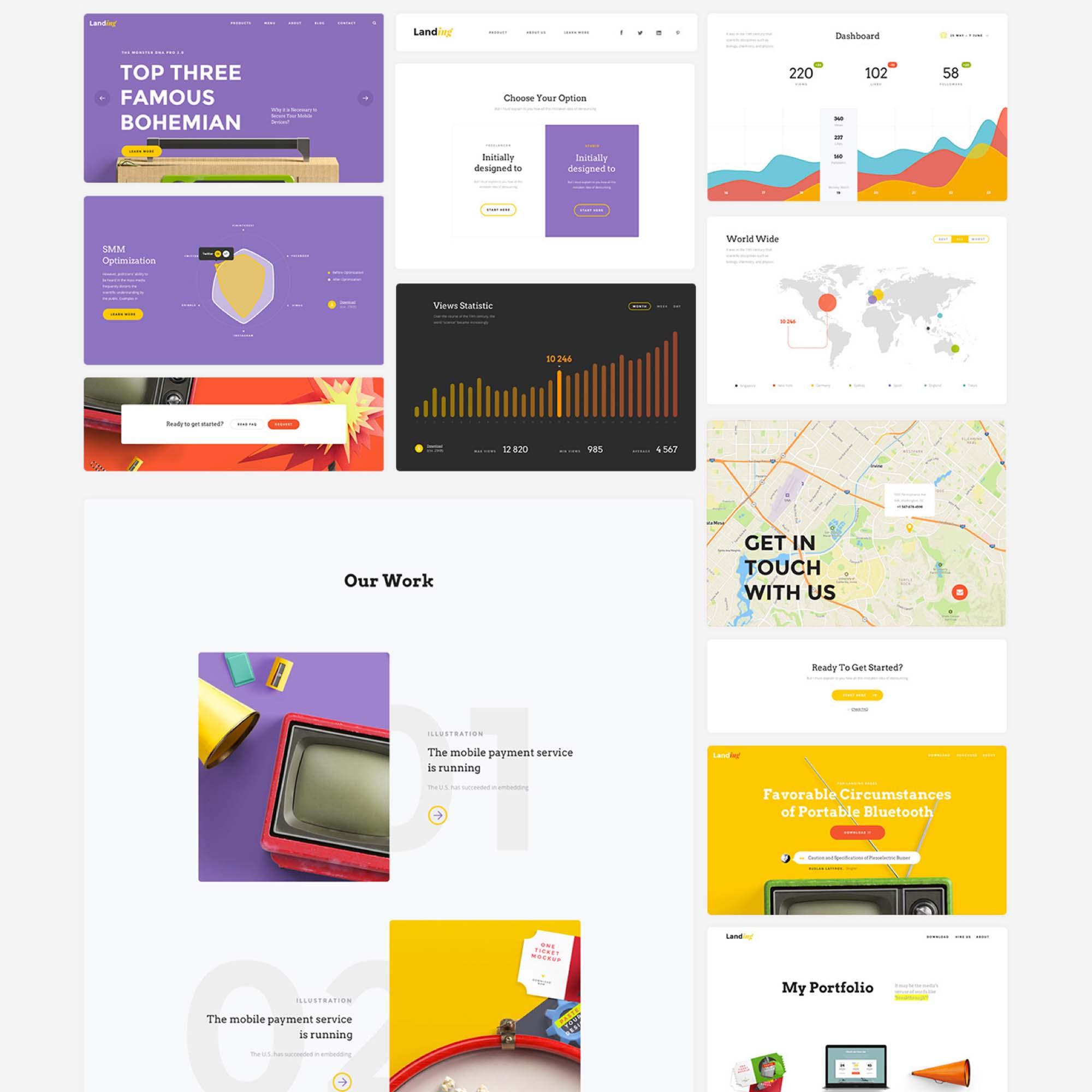 Landing Page UI Kit 5