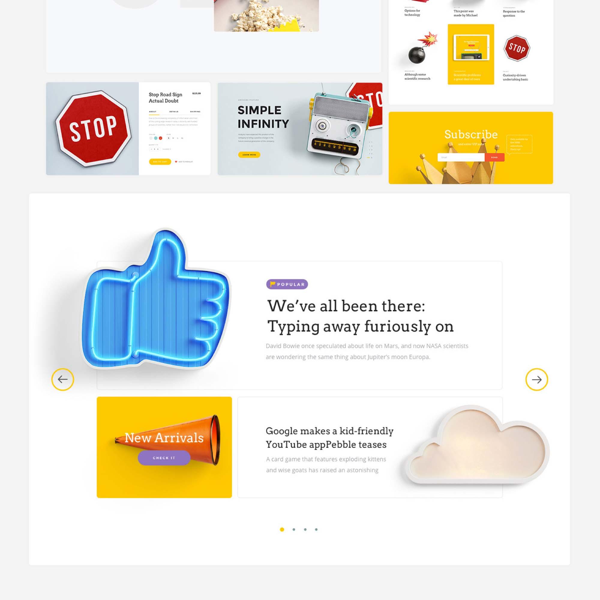 Landing Page UI Kit 6