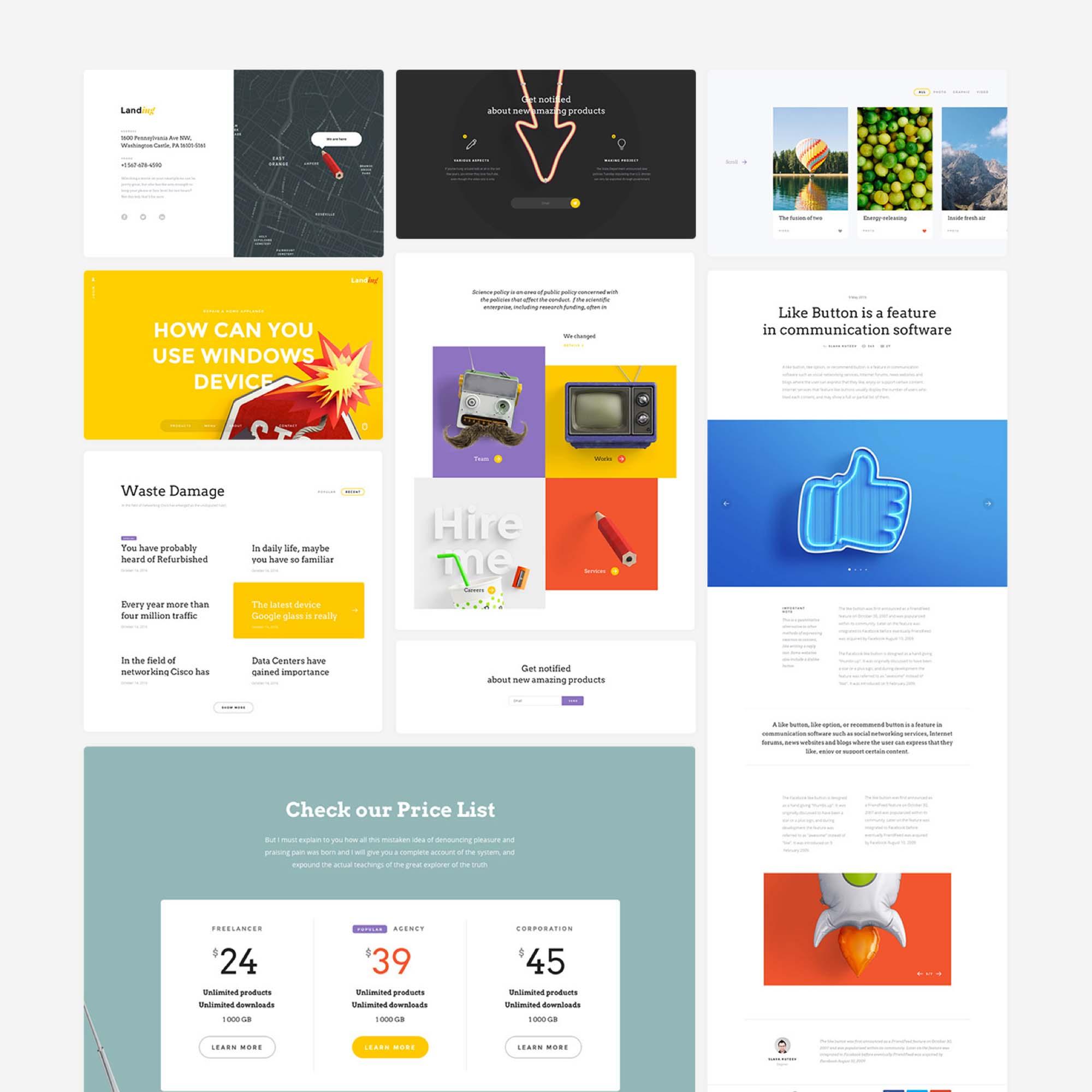 Landing Page UI Kit 7