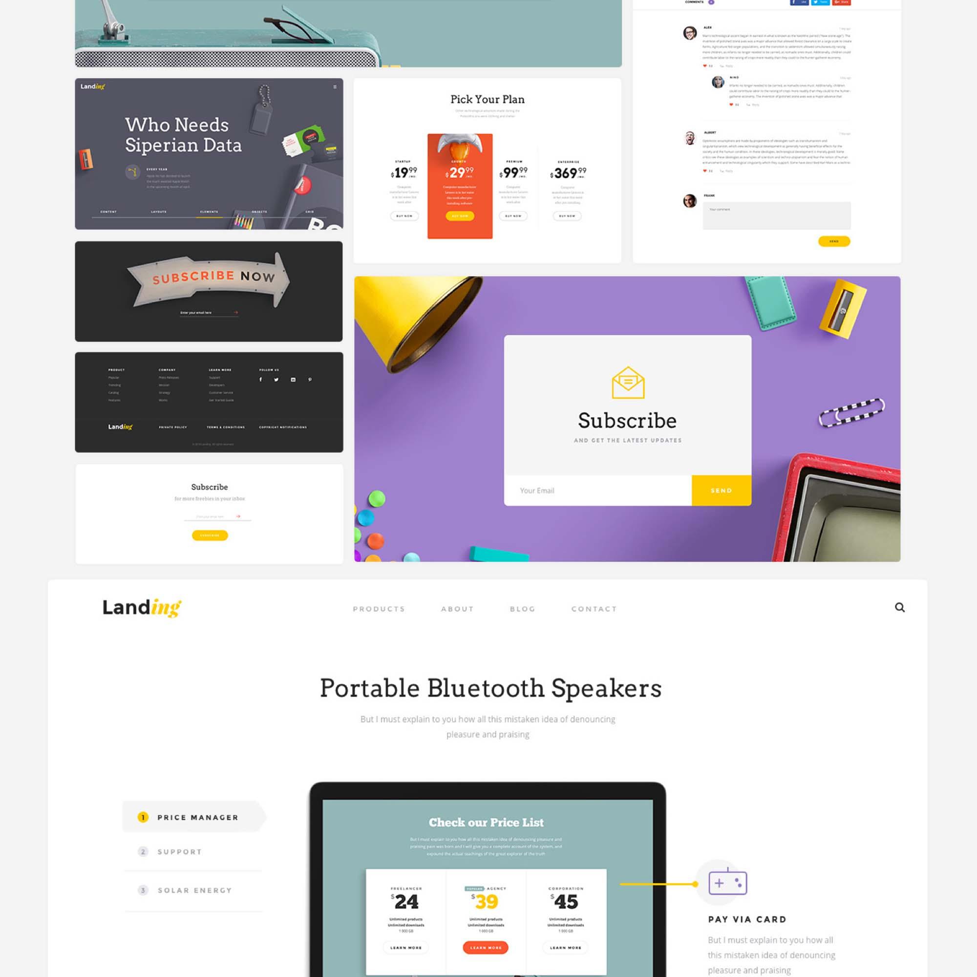 Landing Page UI Kit 8