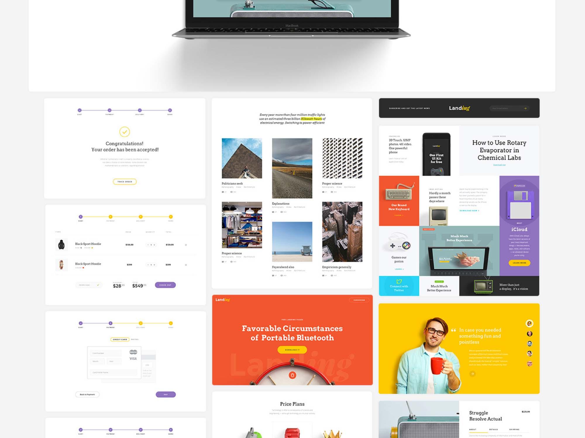 Landing Page UI Kit 9