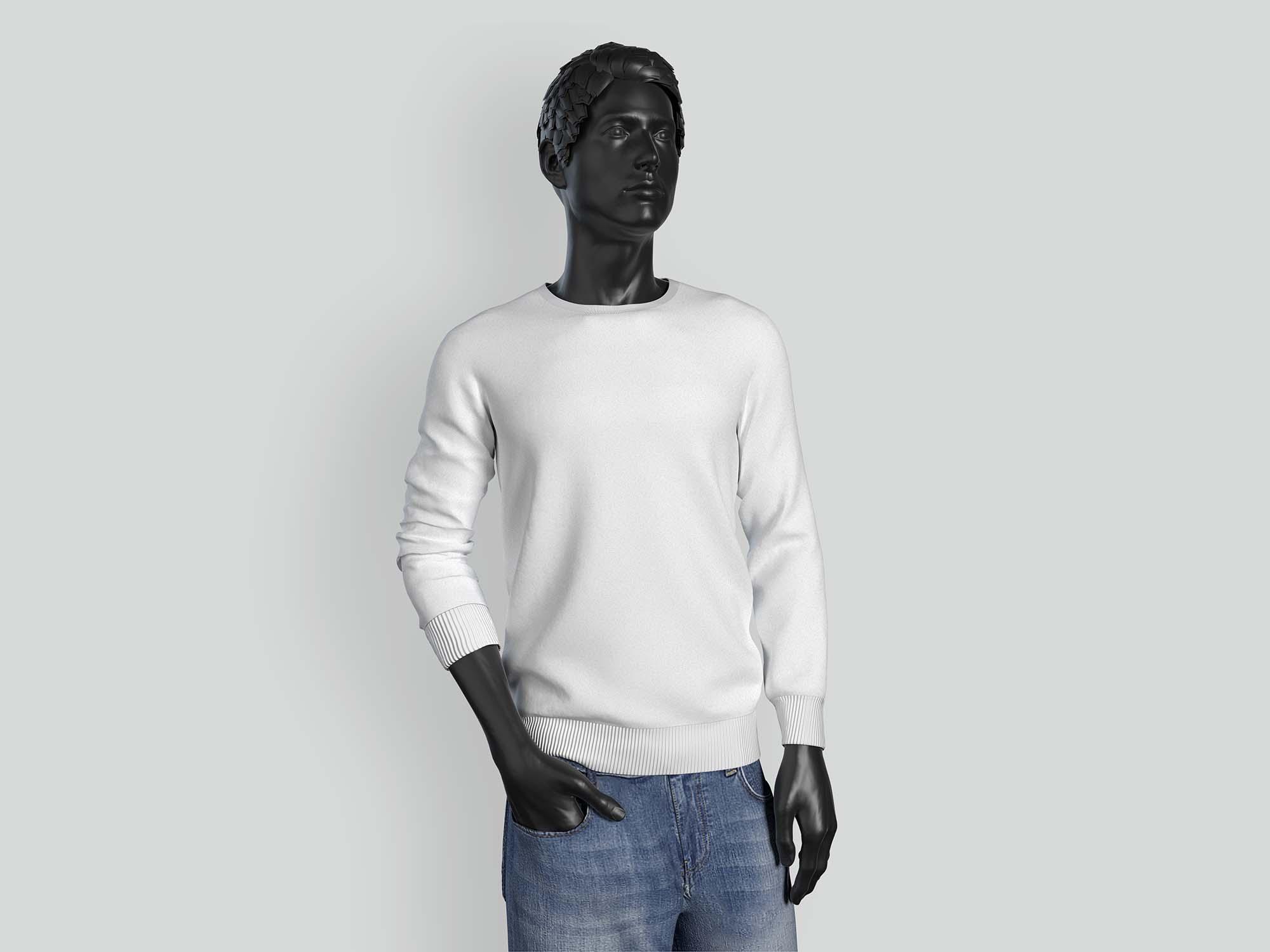 Long Sleeve Men T-shirt Mockup