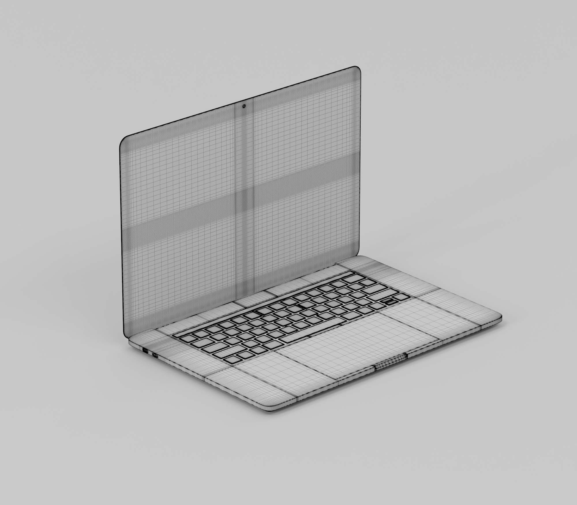 Macbook Pro 3D Model 3