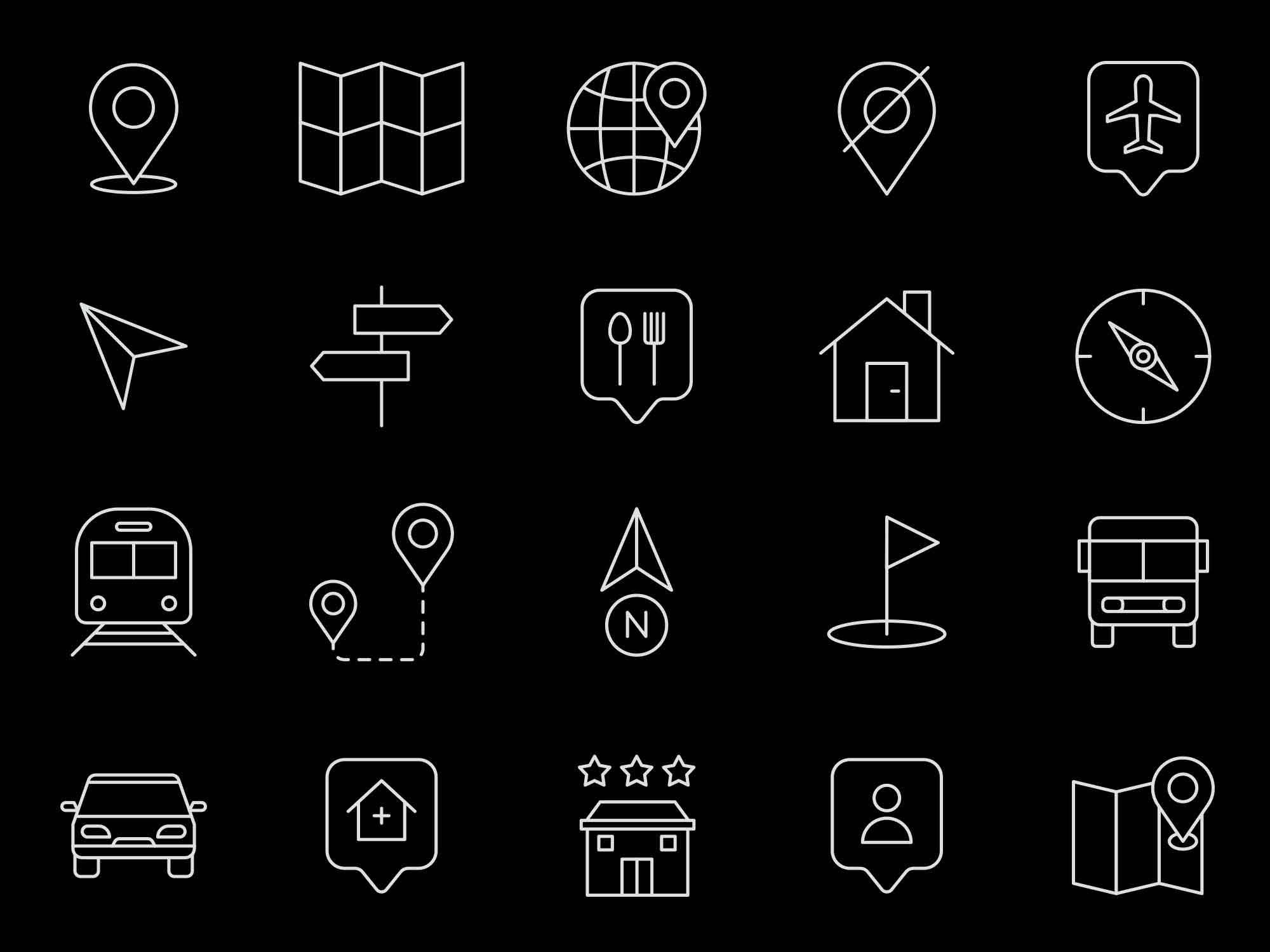 Map Navigation Vector Icons 2