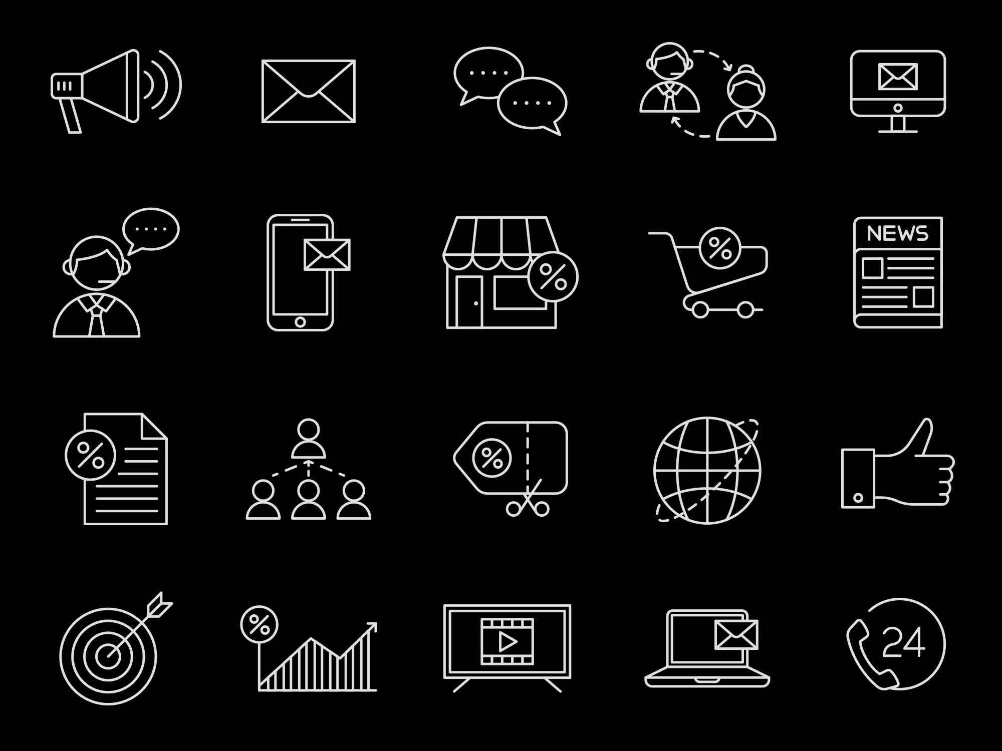 Marketing Vector Icons 2