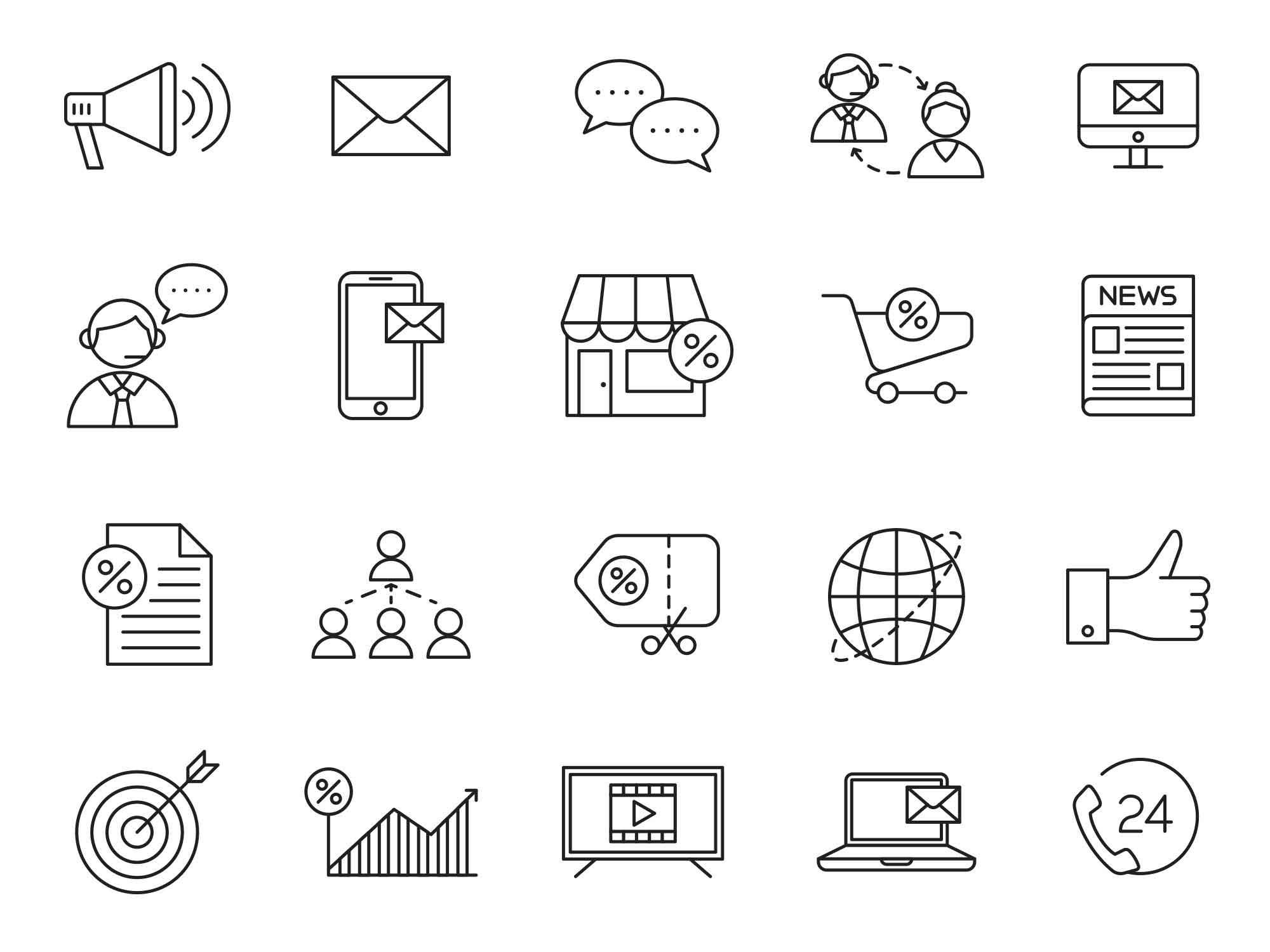 Marketing Vector Icons