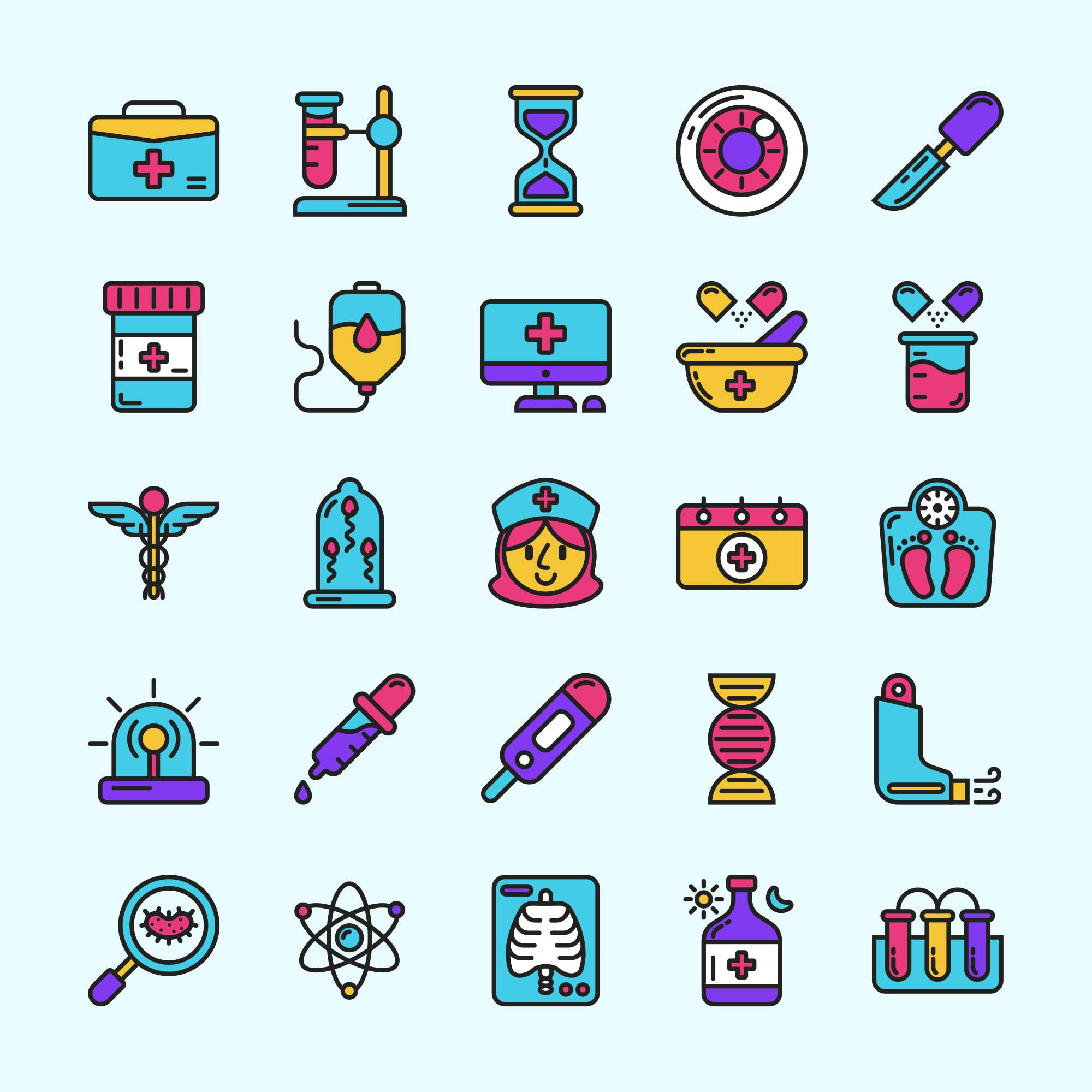 Medical Colored Icons