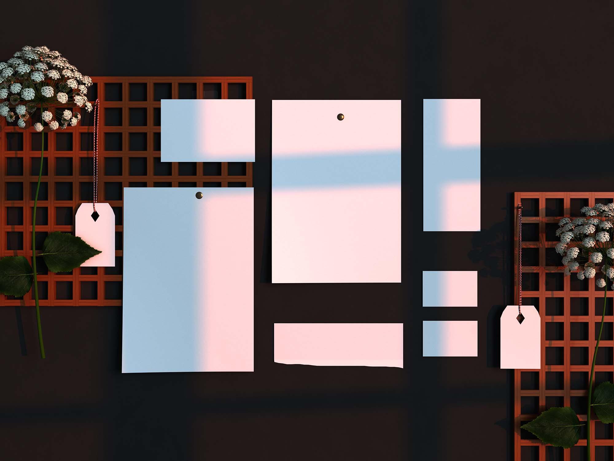 Minimal Mood Board Scene Creator Mockup 2