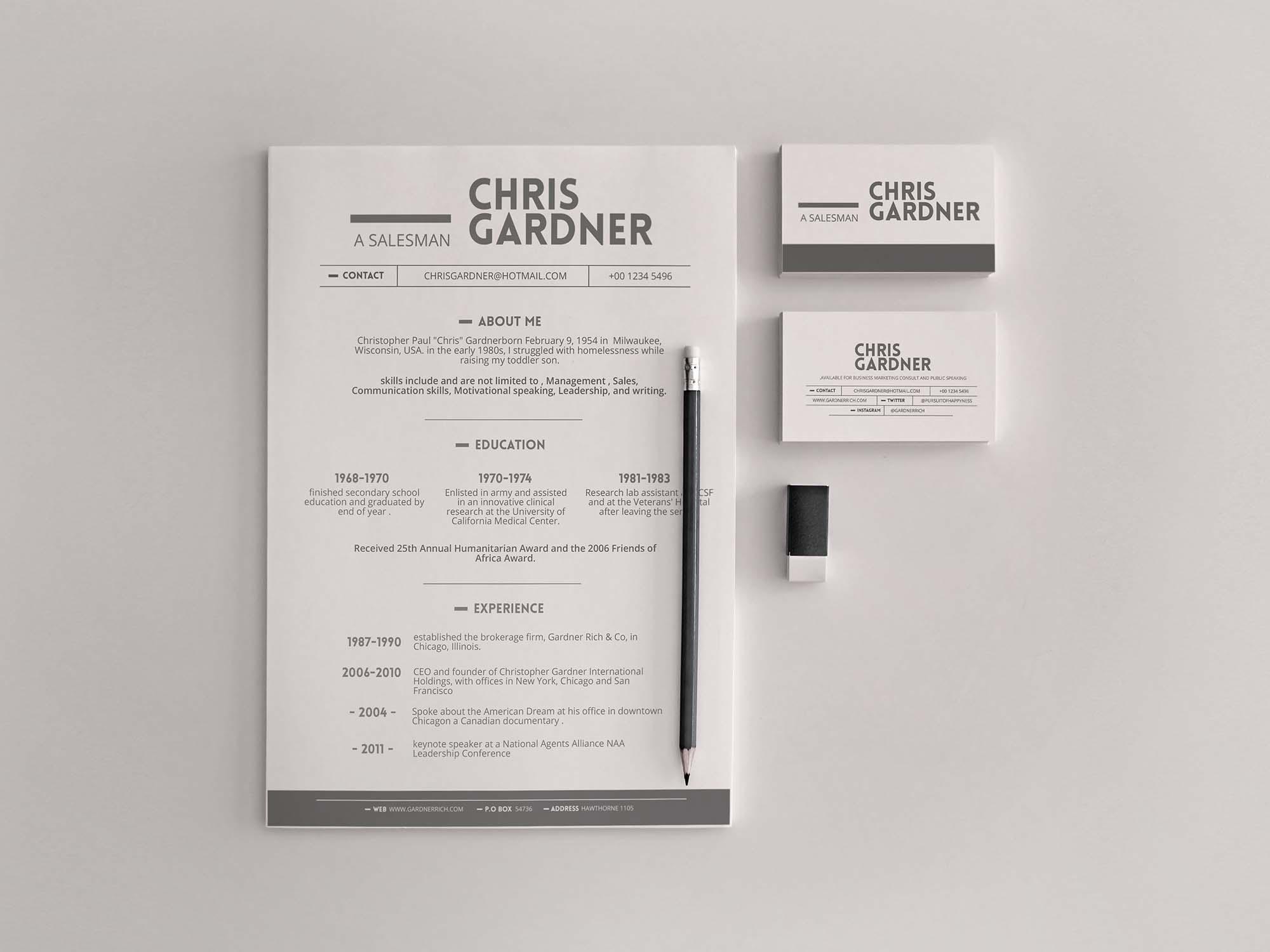 Minimalistic Resume Template 2