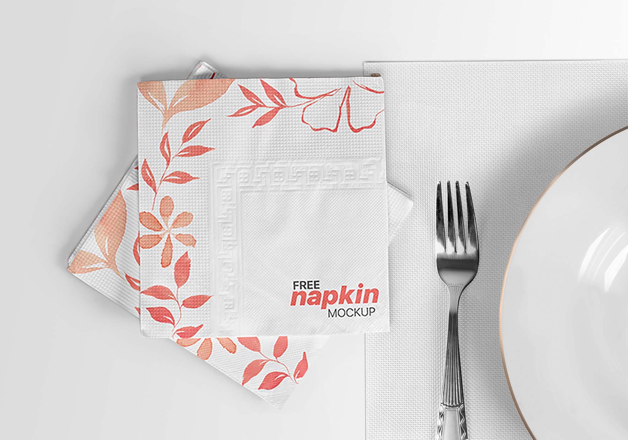 Napkin Mockup