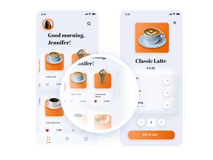 Neuromorphic Coffee App Template