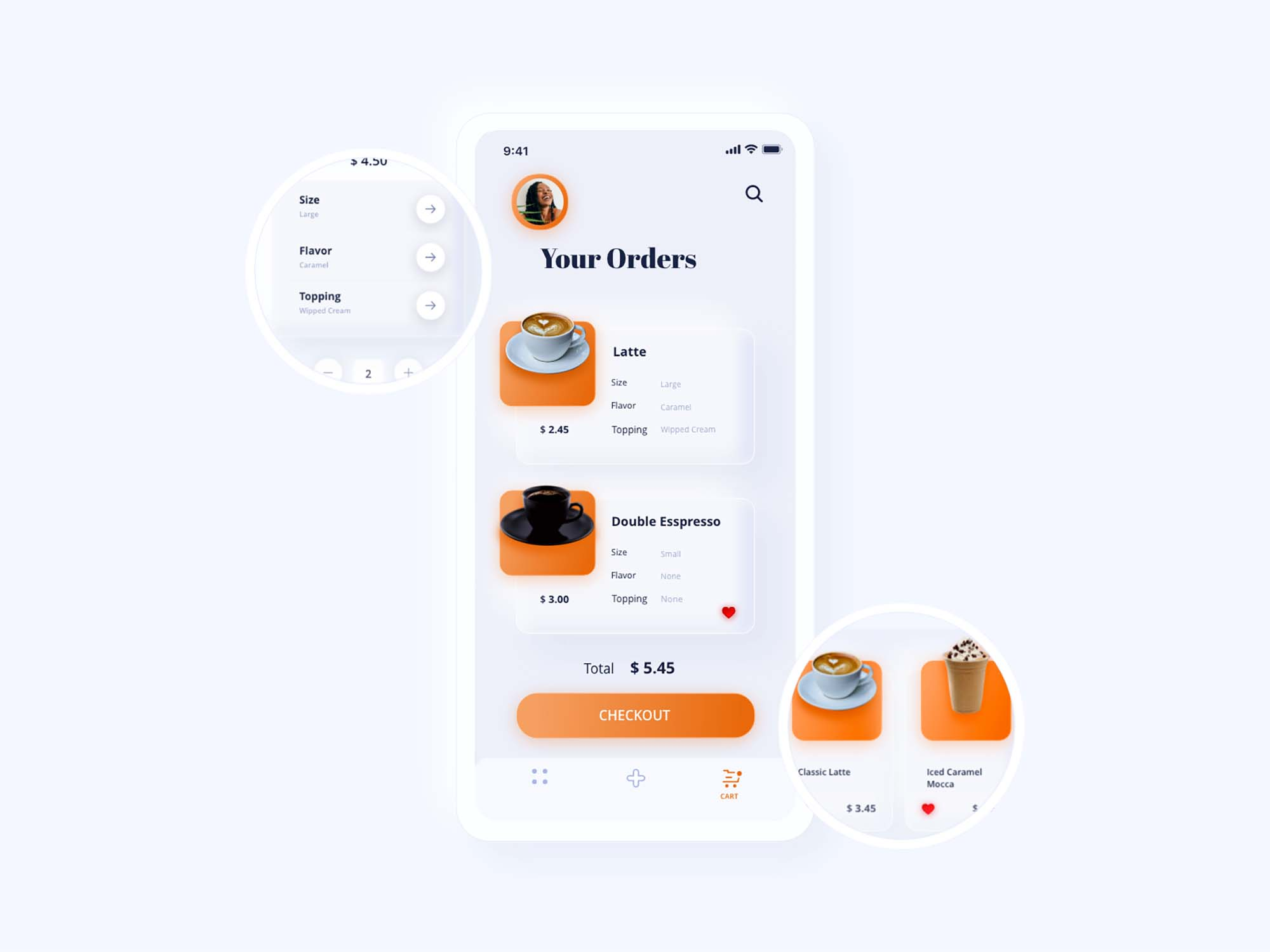 Neuromorphic Coffee App Template 2