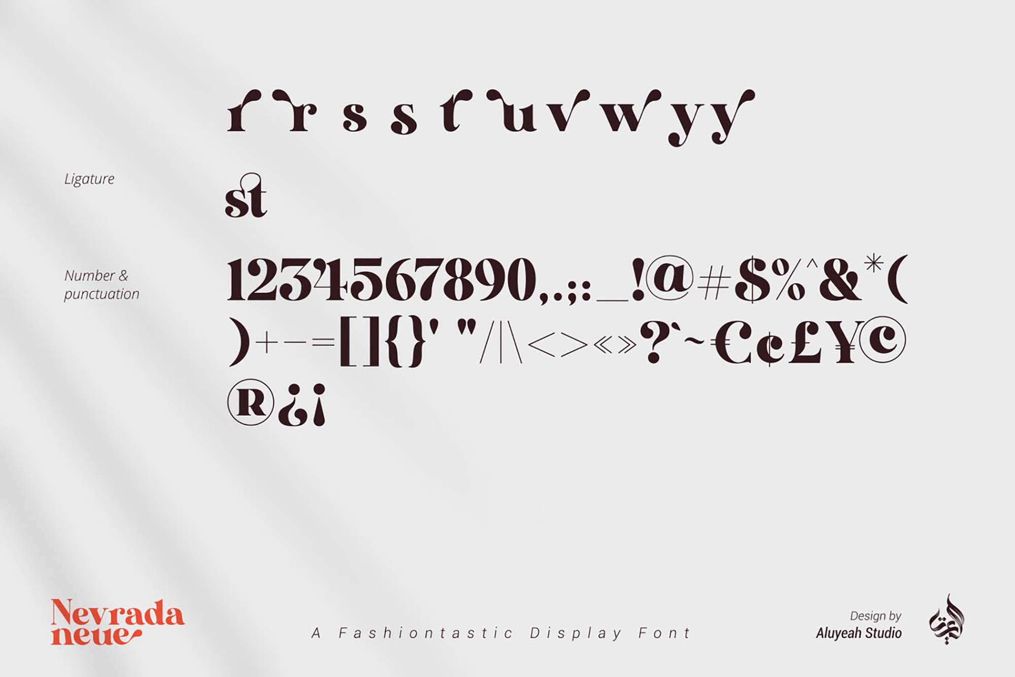 Nevrada Neue Font 11