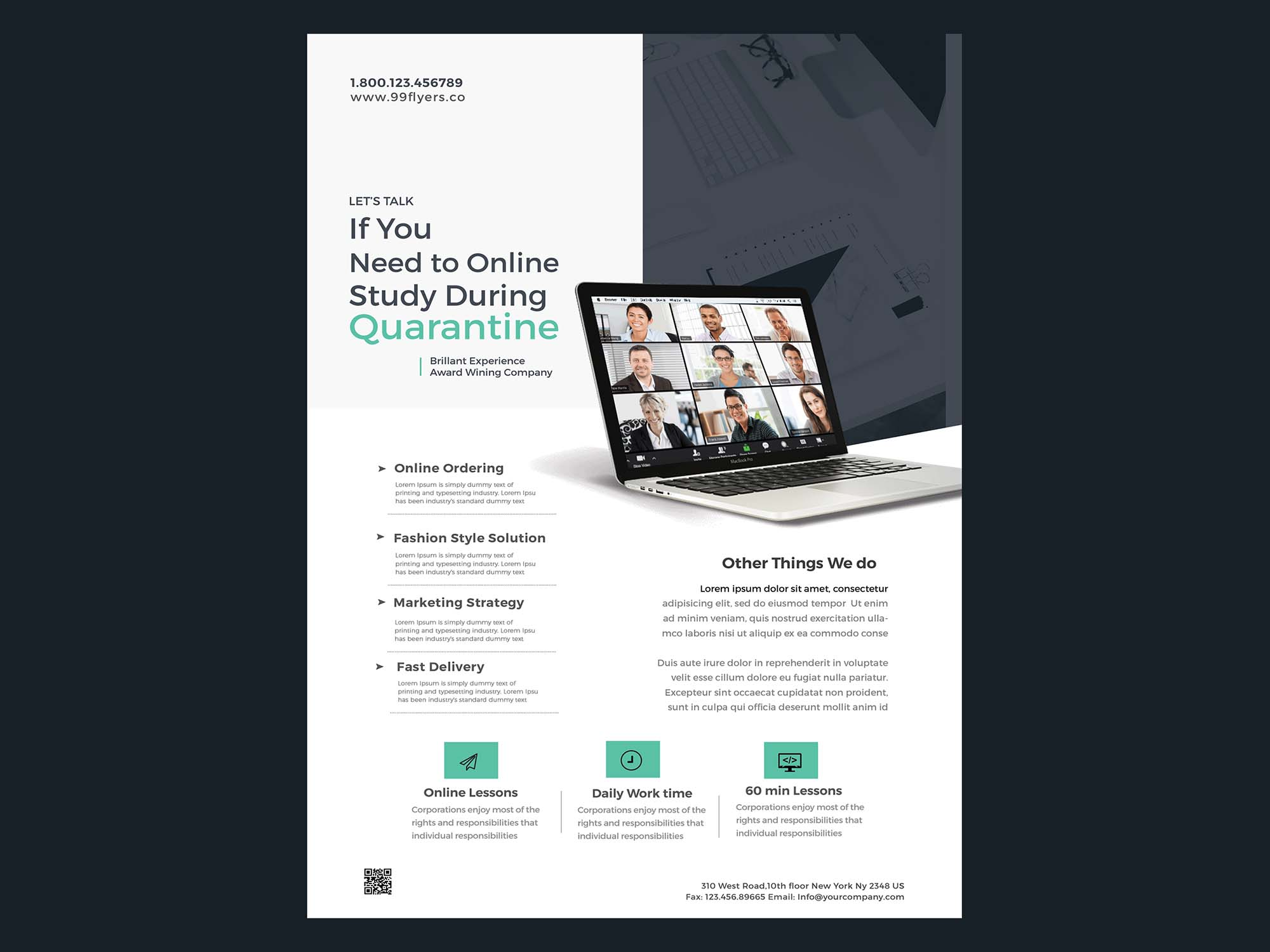 Online Learning Flyer Template 2