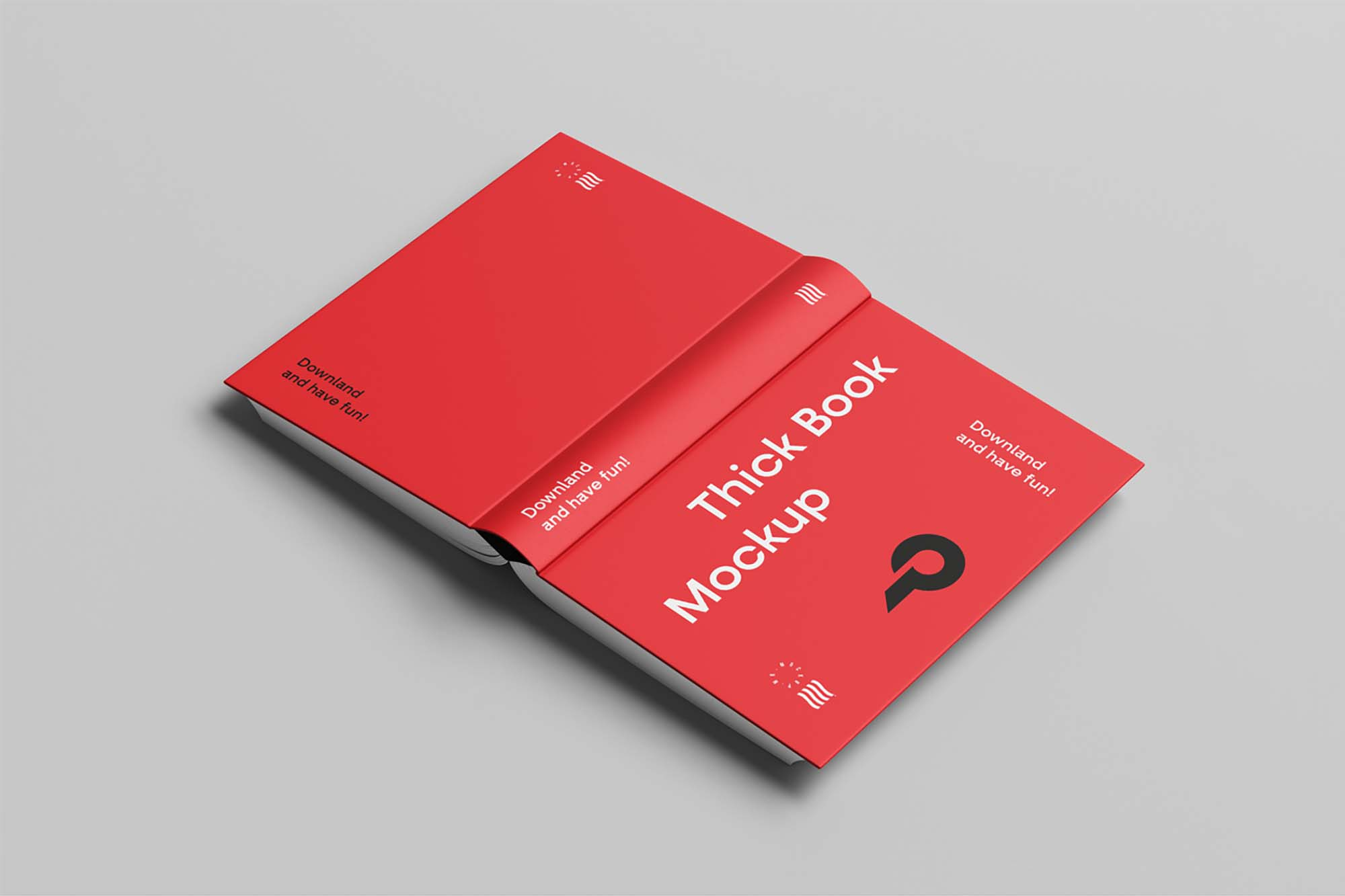 Open Cover Book Mockup