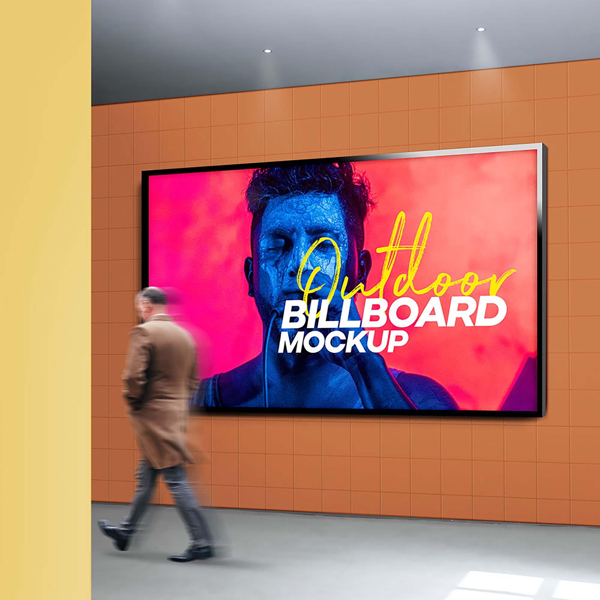 Outdoor Billboard Mockup